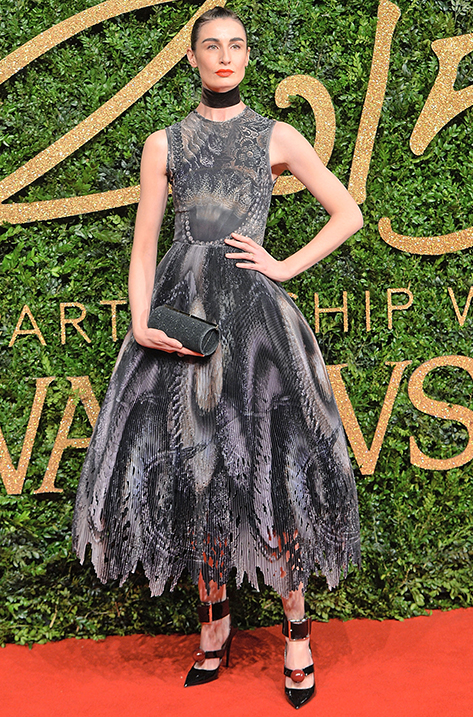 Erin O'Connor carrying Trinket