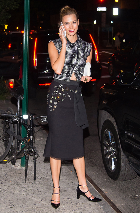 Karlie Kloss carrying CANDY