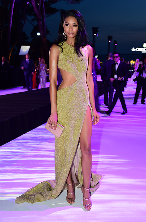 Chanel Iman carrying Candy