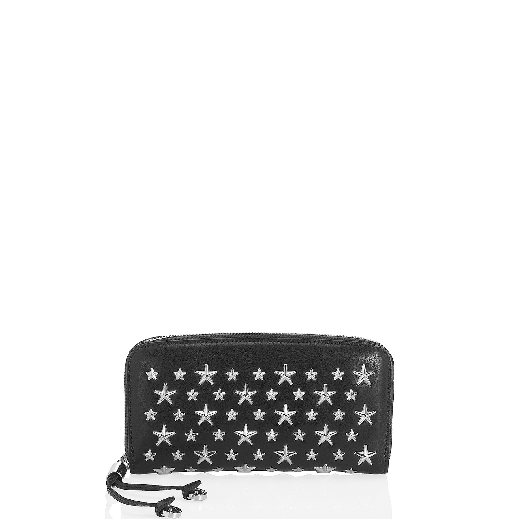 FILIPA Black Leather Wallet with Stars