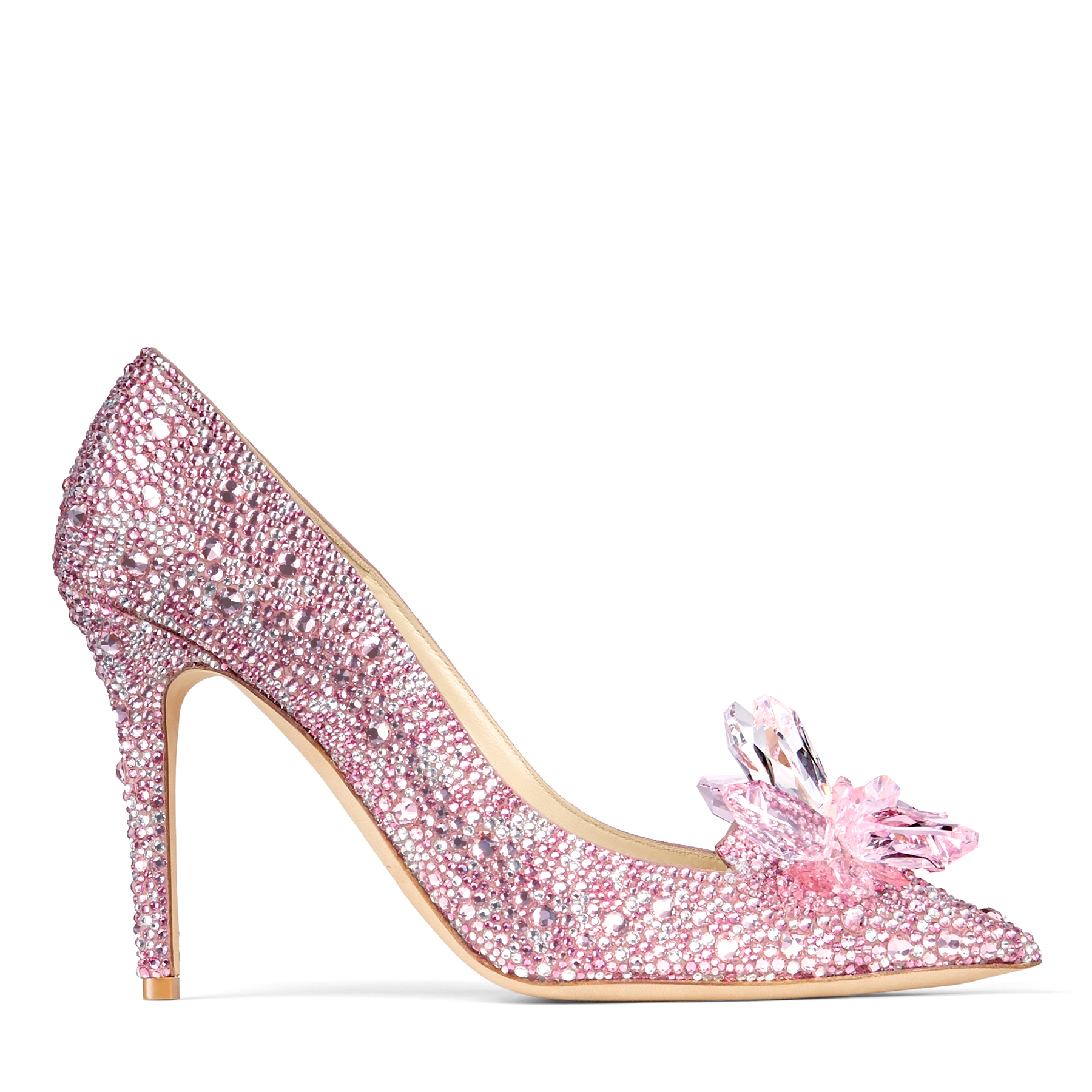 Layered from toe to heel in luxurious Swarovski crystals, the Avril is a shoe of fairy tales. Employing the classic pointy toe pump and a dramatic spike heel, each exquisite crystal has been hot fixed before mounting for longevity. Swarovski crystals call for a special occasion, live your Cinderella moment and showcase these rose mix heels at a high society dinner or to the party of the year.