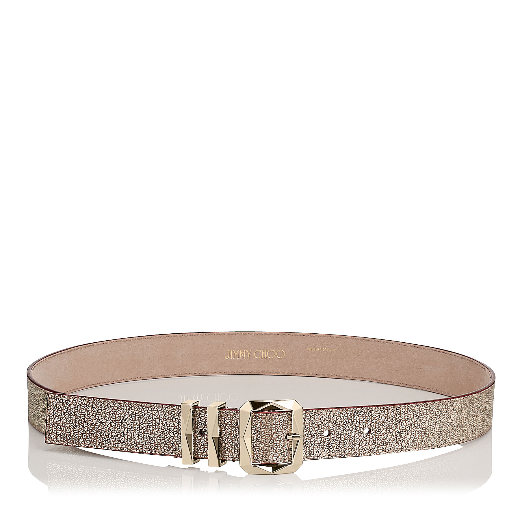 BLITZ Champagne Leather Belt