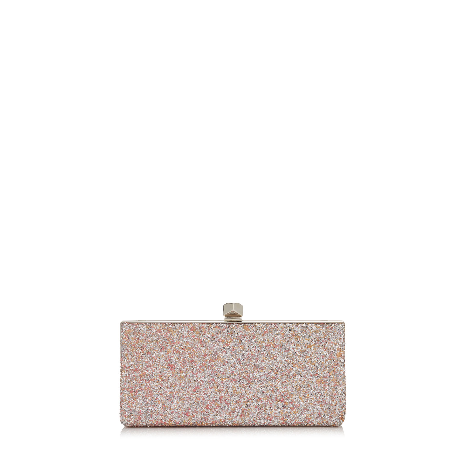 CELESTE/S Camellia Mix Speckled Glitter Clutch Bag with Cube Clasp