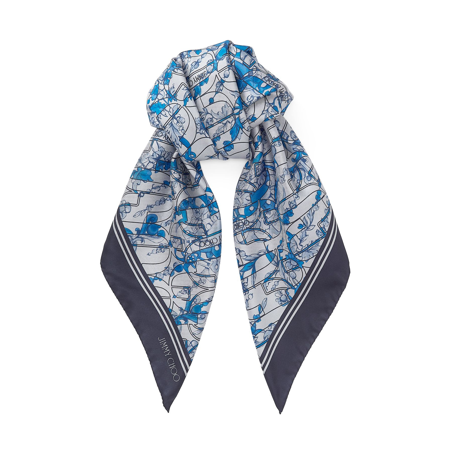 In pure silk, our olympic ELLA printed twill foulard is ideal for elegantly accessorising endless looks. Crafted in Italy, it\\\'s made from 100 per cent soft silk and printed with our Autumn Winter 2020 seasonal print.