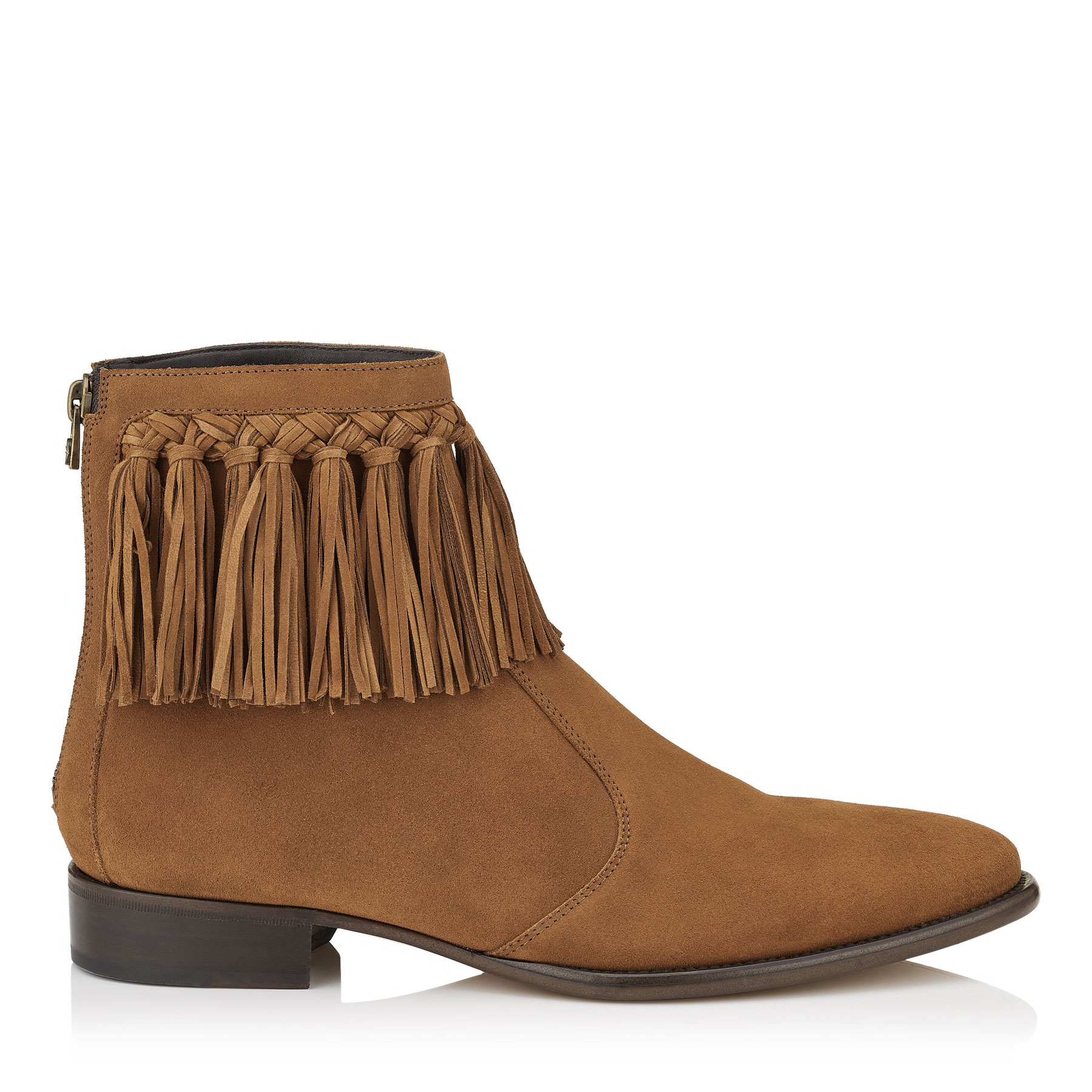ERIC Dark Tan Dry Suede Boots