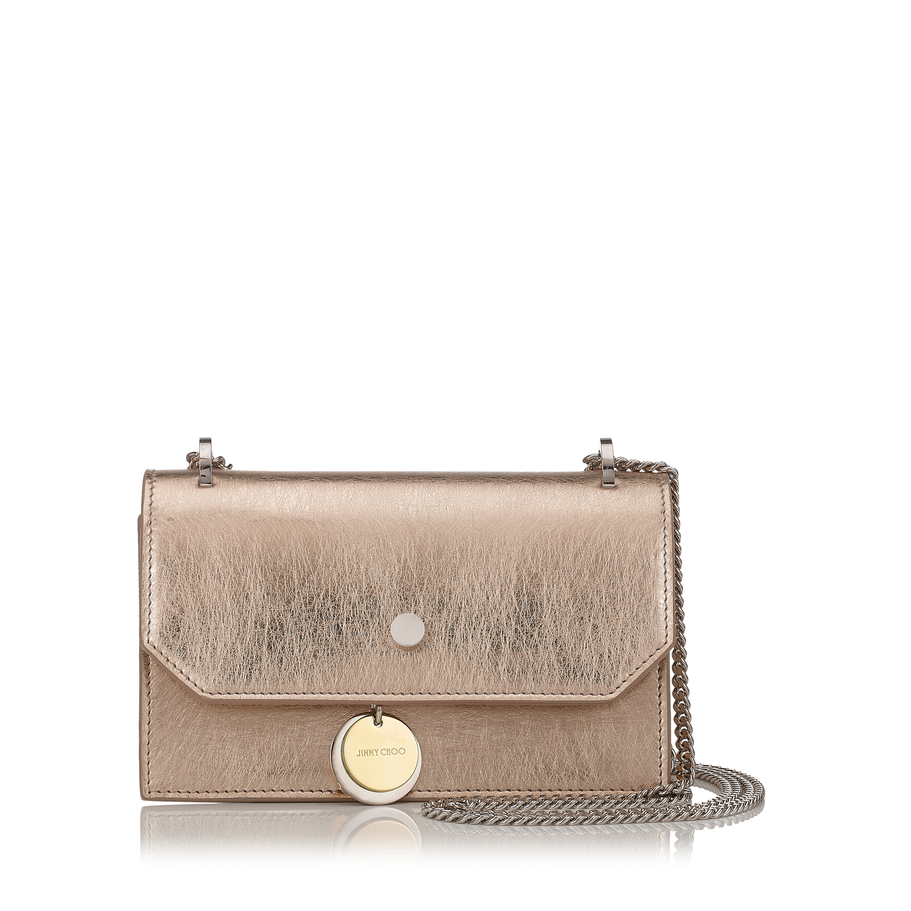 FINLEY Gold Etched Metallic Leather Cross Body Mini Bag