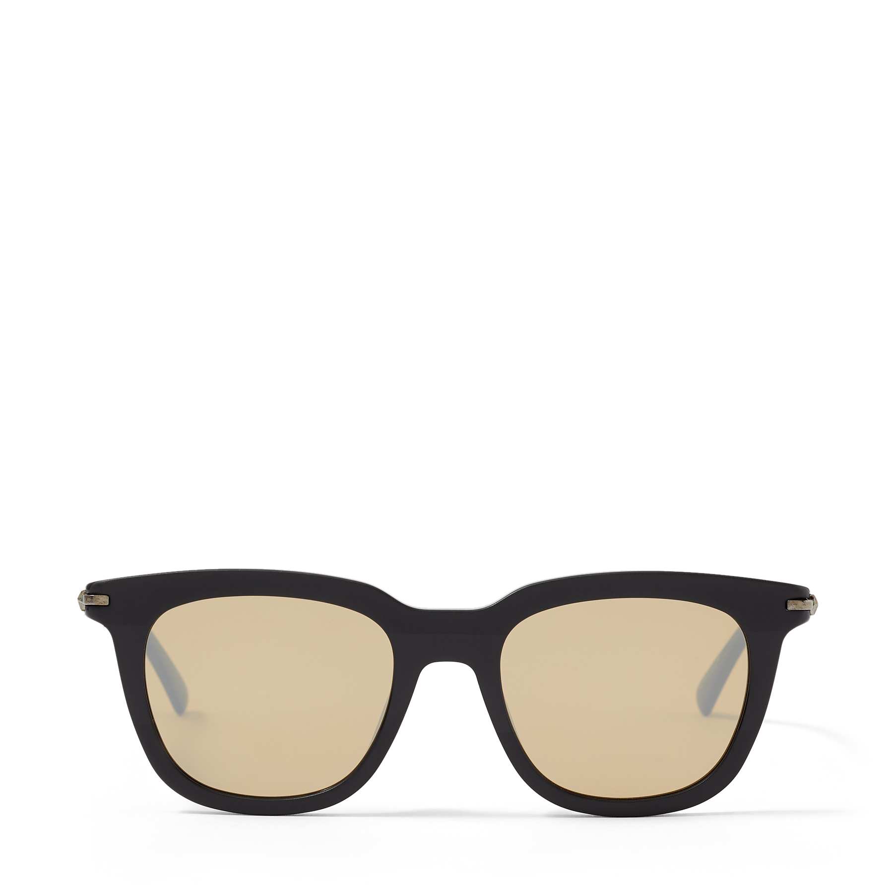 These black acetate GAD sunglasses are crafted in Italy to a classic square shape that lends a sophisticated finish to myriad looks. Silver mirrored lenses lend a contemporary slant.