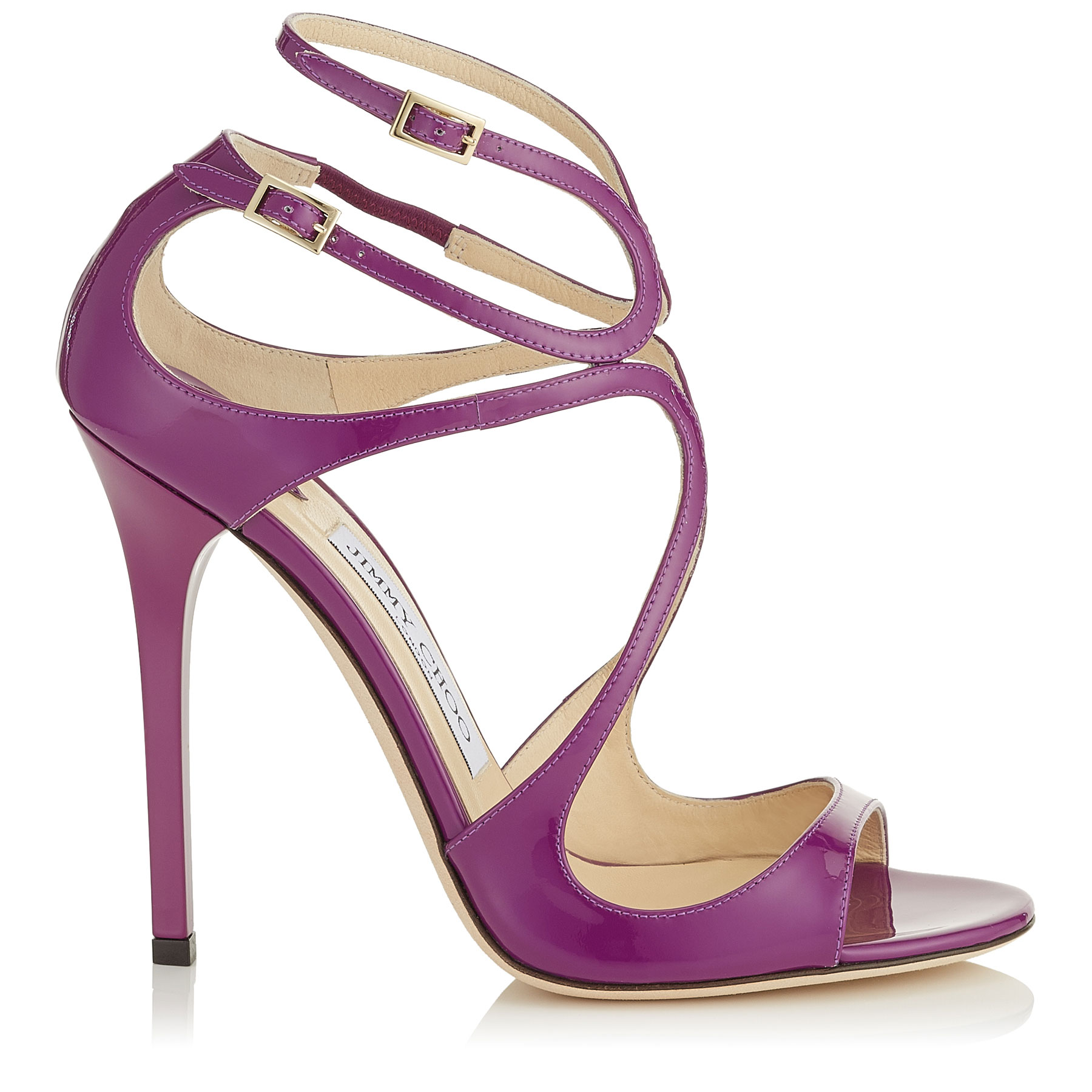 LANCE Madeline Patent Leather Sandals