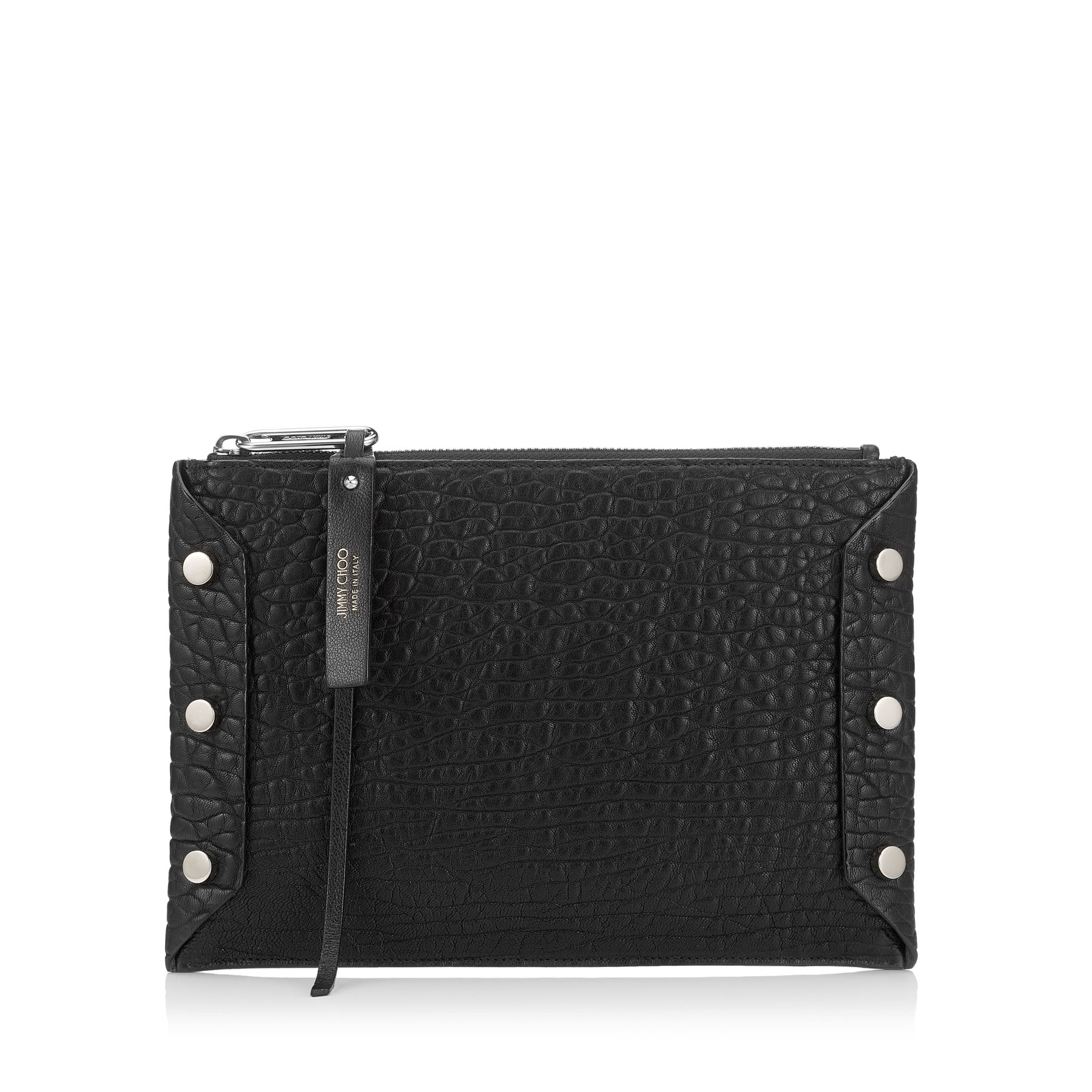 LINDY Black Grainy Leather Pouch