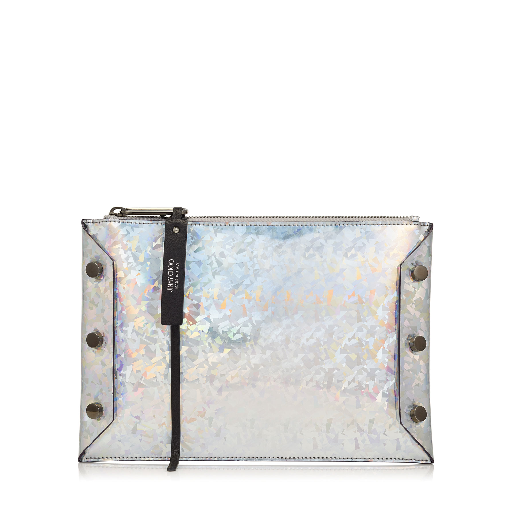 LINDY Silver Mix Holographic Coated Fabric Pouch