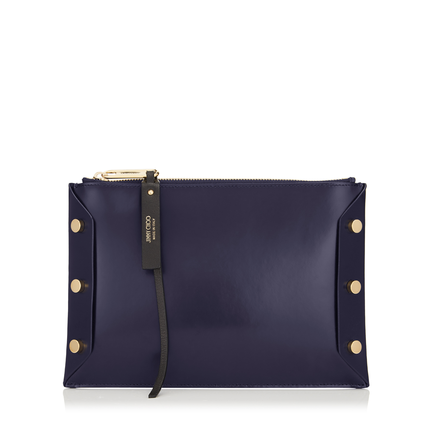 LINDY Navy Spazzolato Leather Pouch