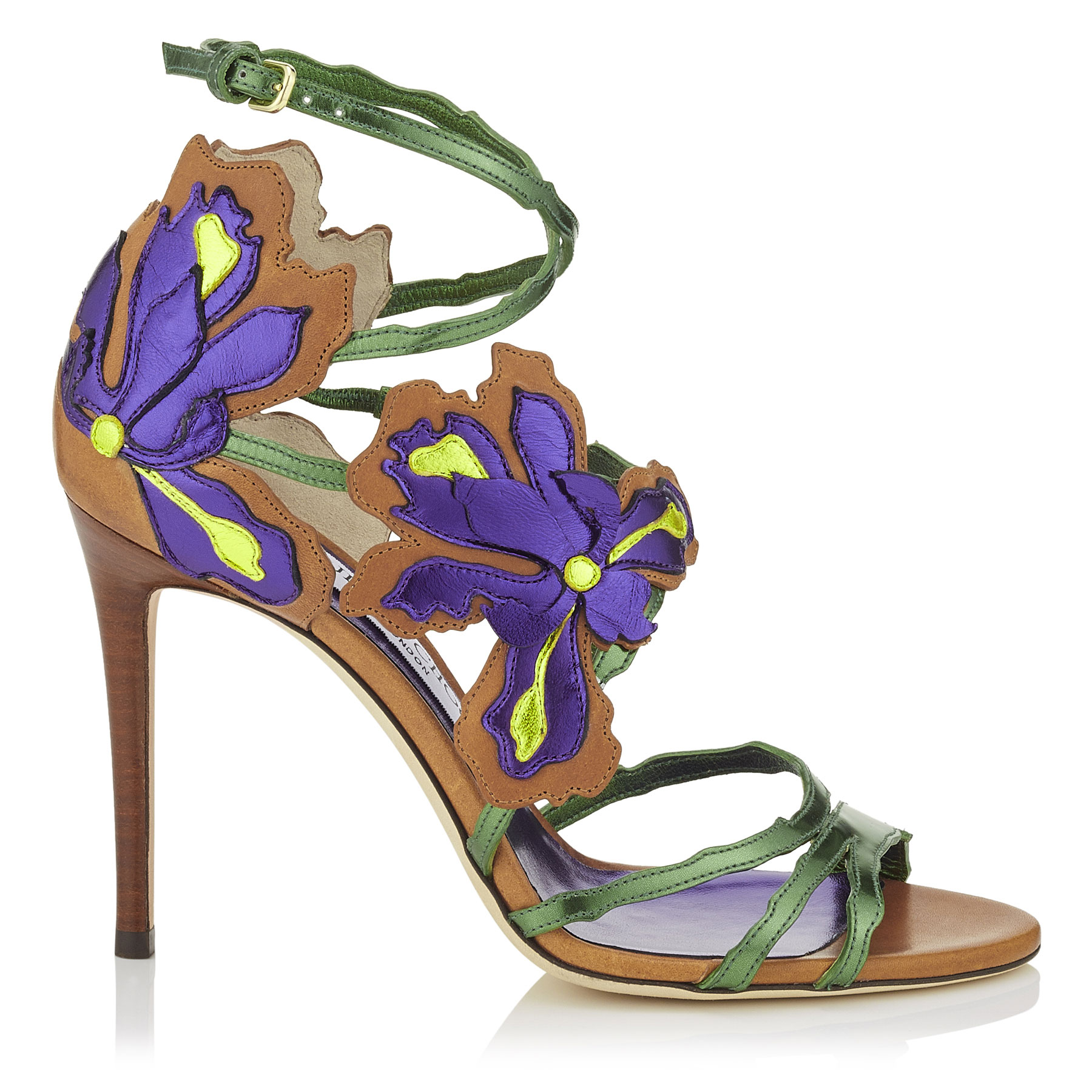LOLITA 100 Canyon Mix Mirror Leather and Vaccetta Sandals