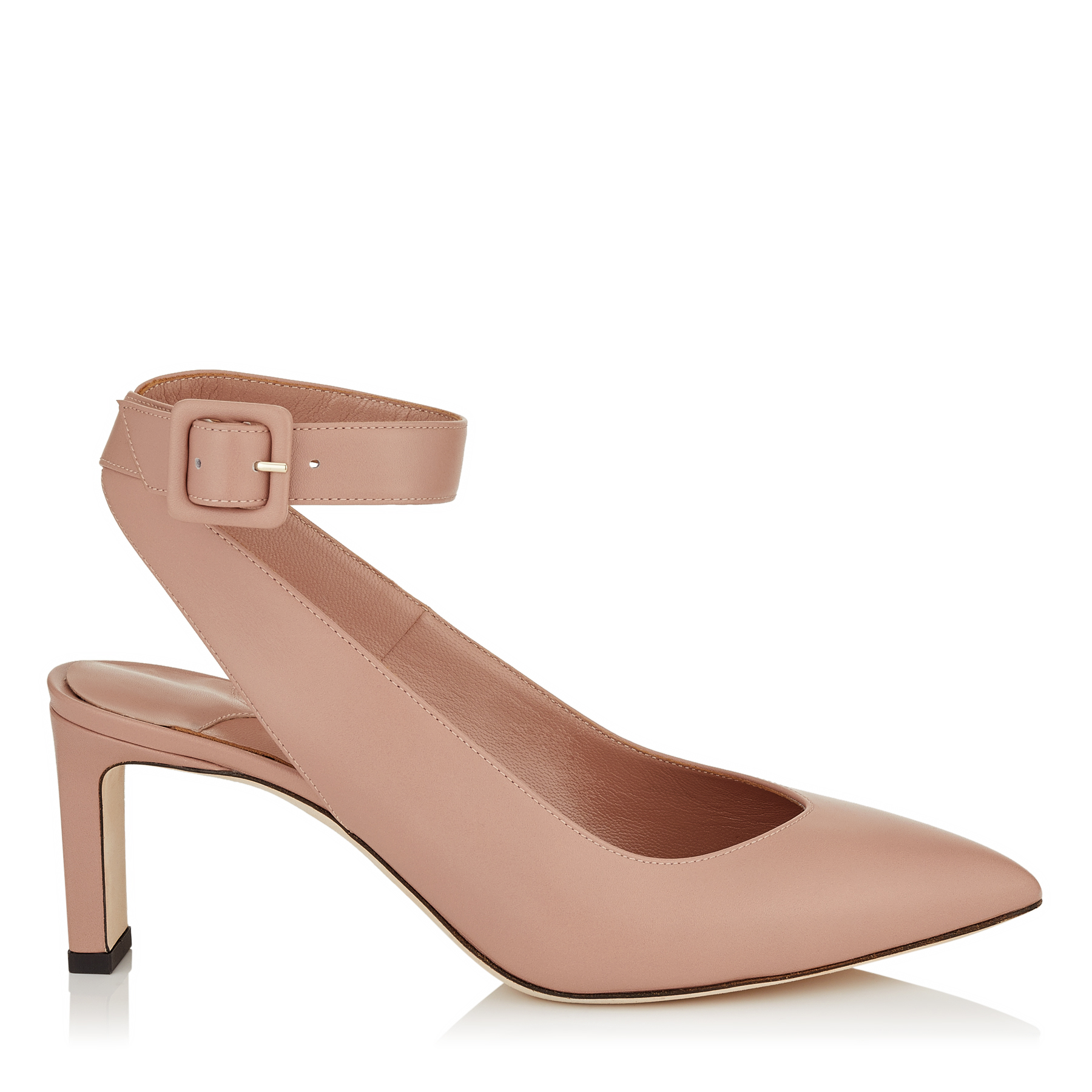 LOU 65 Ballet Pink Shiny Smooth Leather Pumps by Jimmy Choo