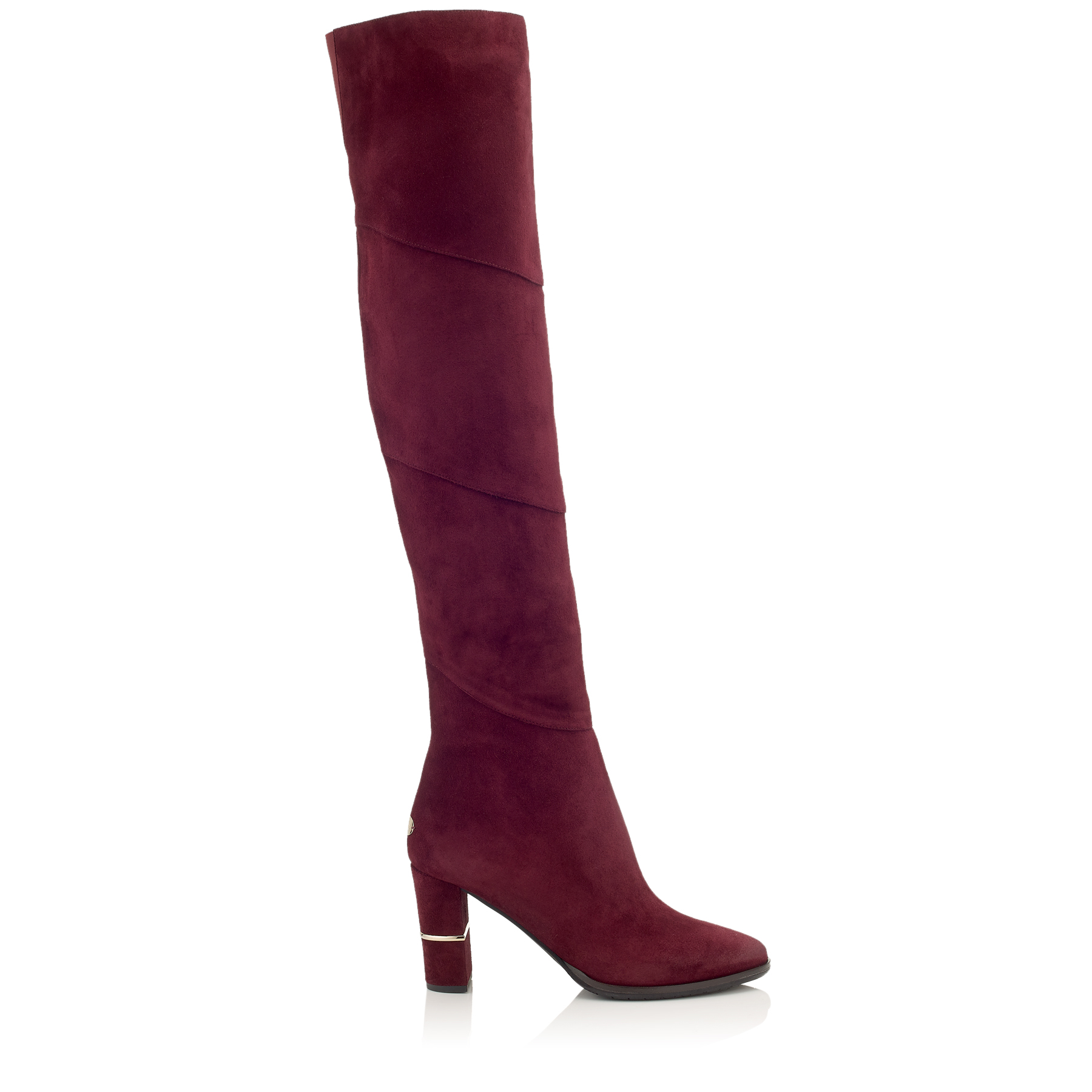 MAIRA 80 Bordeaux Suede Over-the-Knee Boots