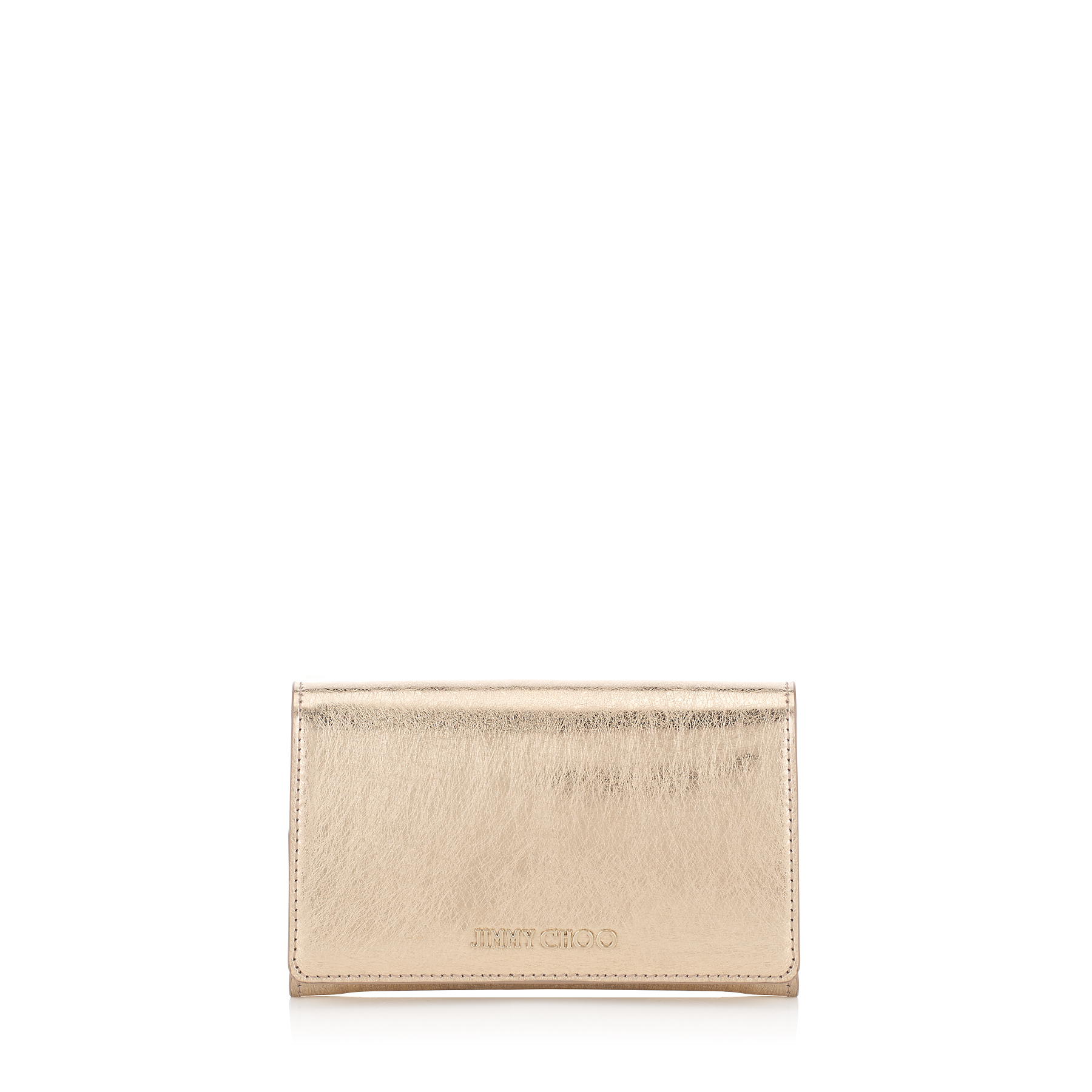 MARLIE Gold Etched Metallic Spazzolato Leather Continental Wallet