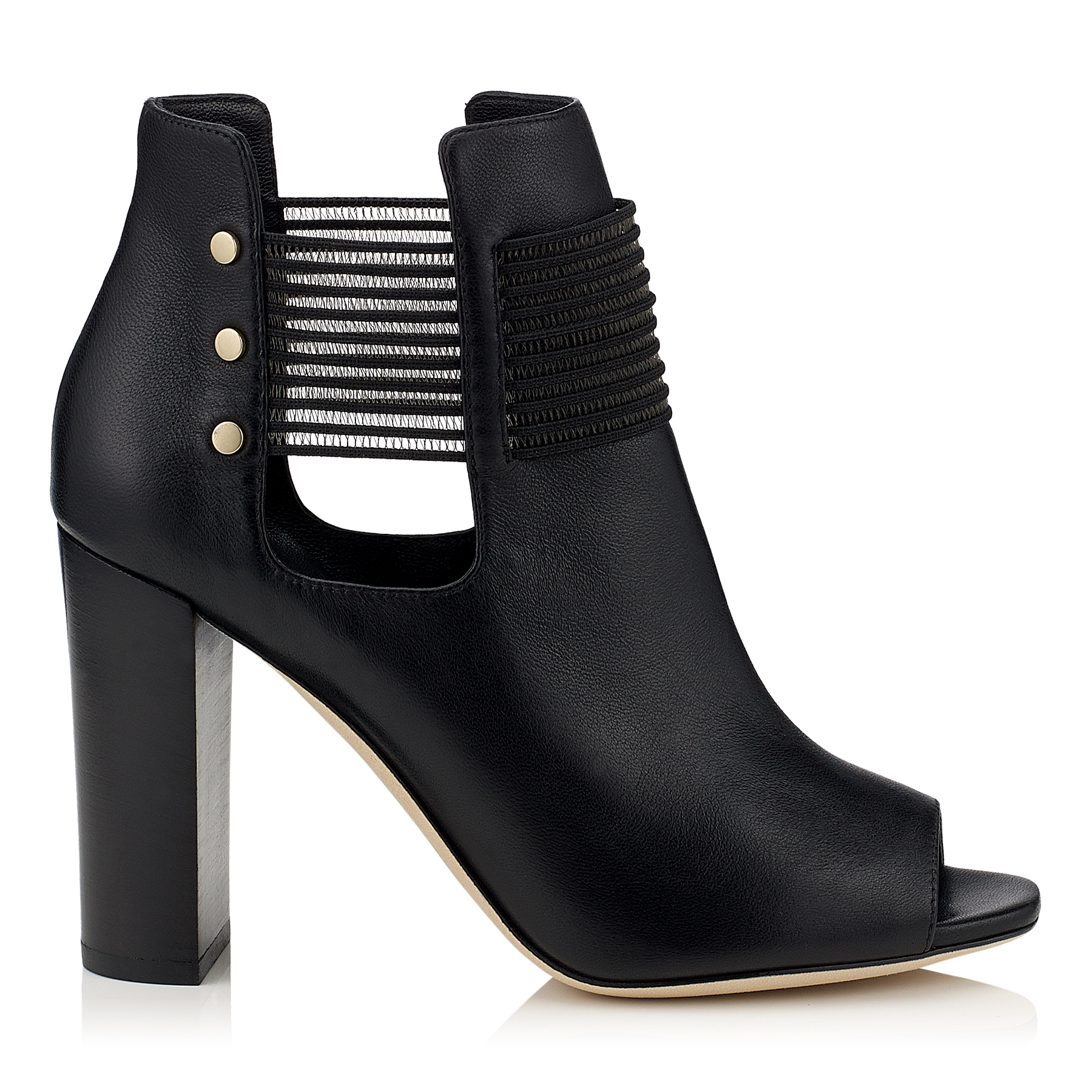 MASE 95 Black Soft Grainy Leather Ankle Booties