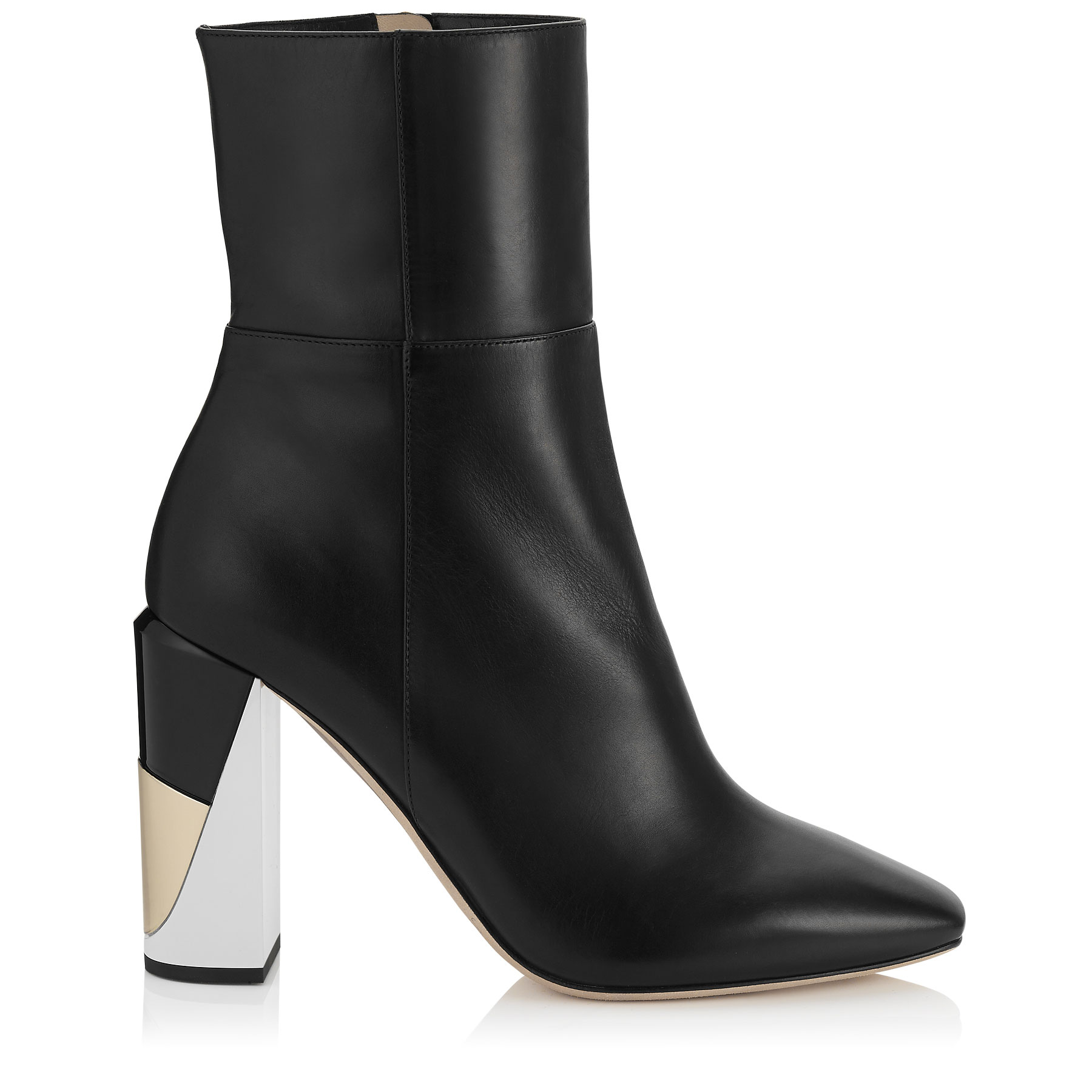 MELROSE 95 Black Nappa Leather Ankle Boots