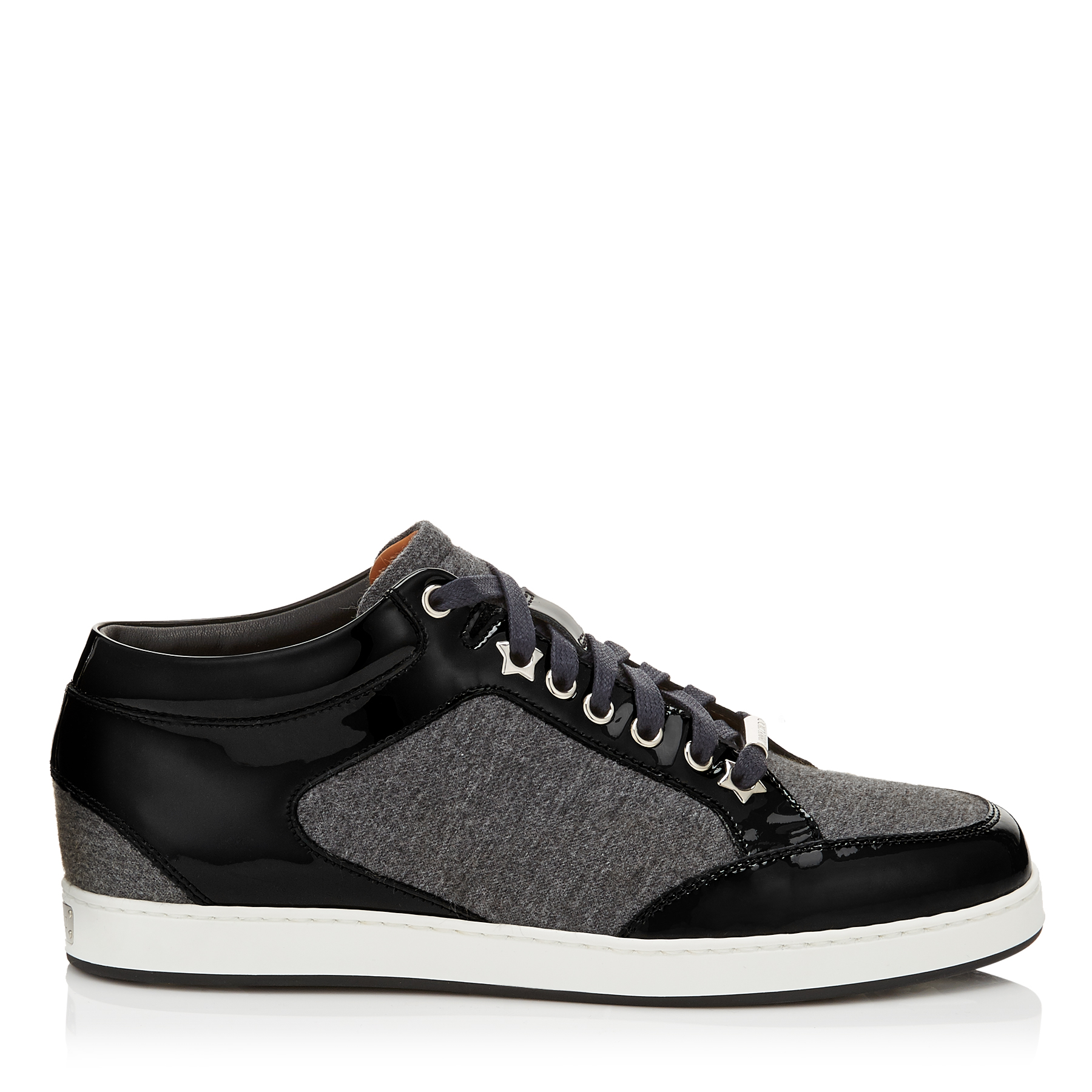 MIAMI Taupe Grey Flannel Low Top Trainers