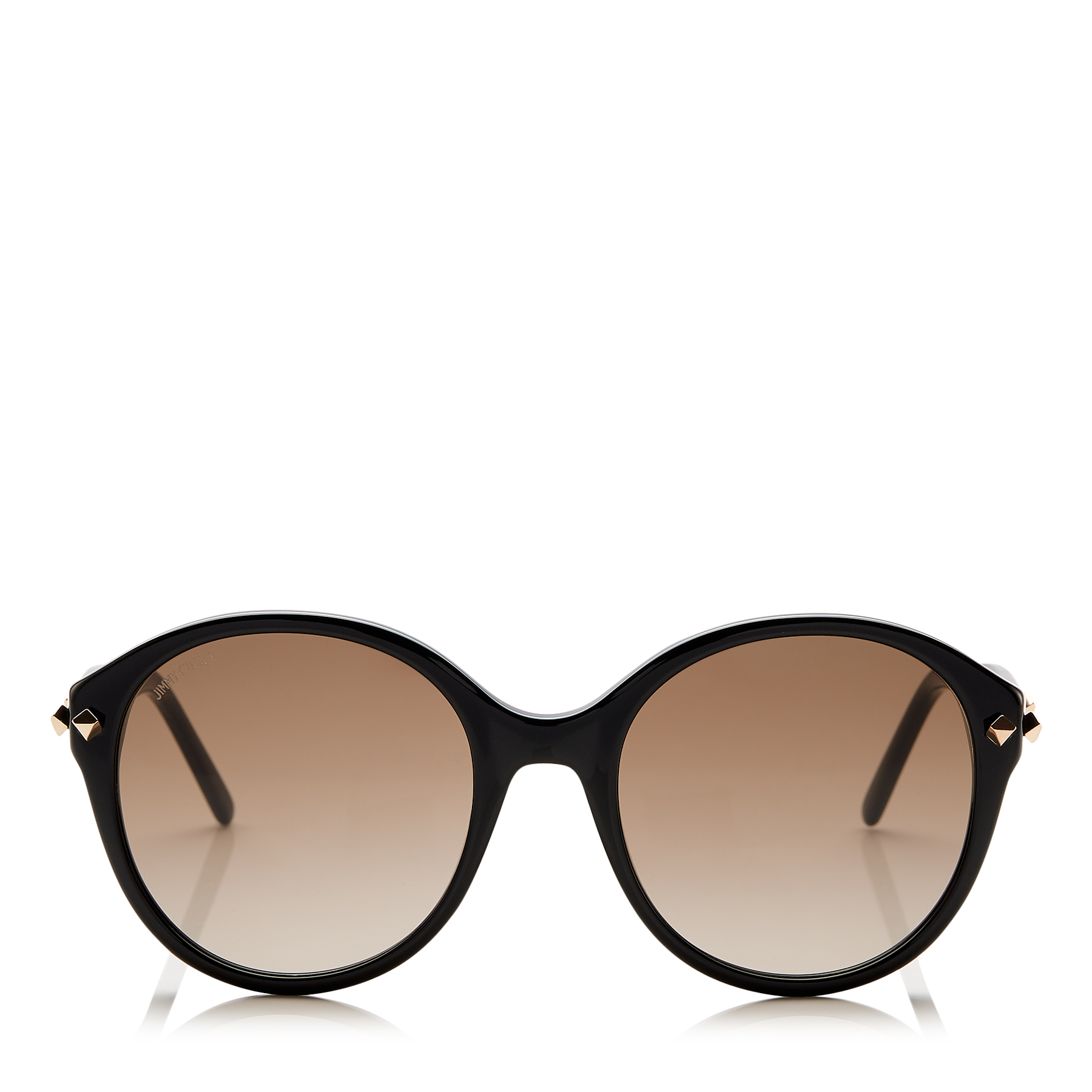 MORE/S Black Acetate Sunglasses with Stud Detail