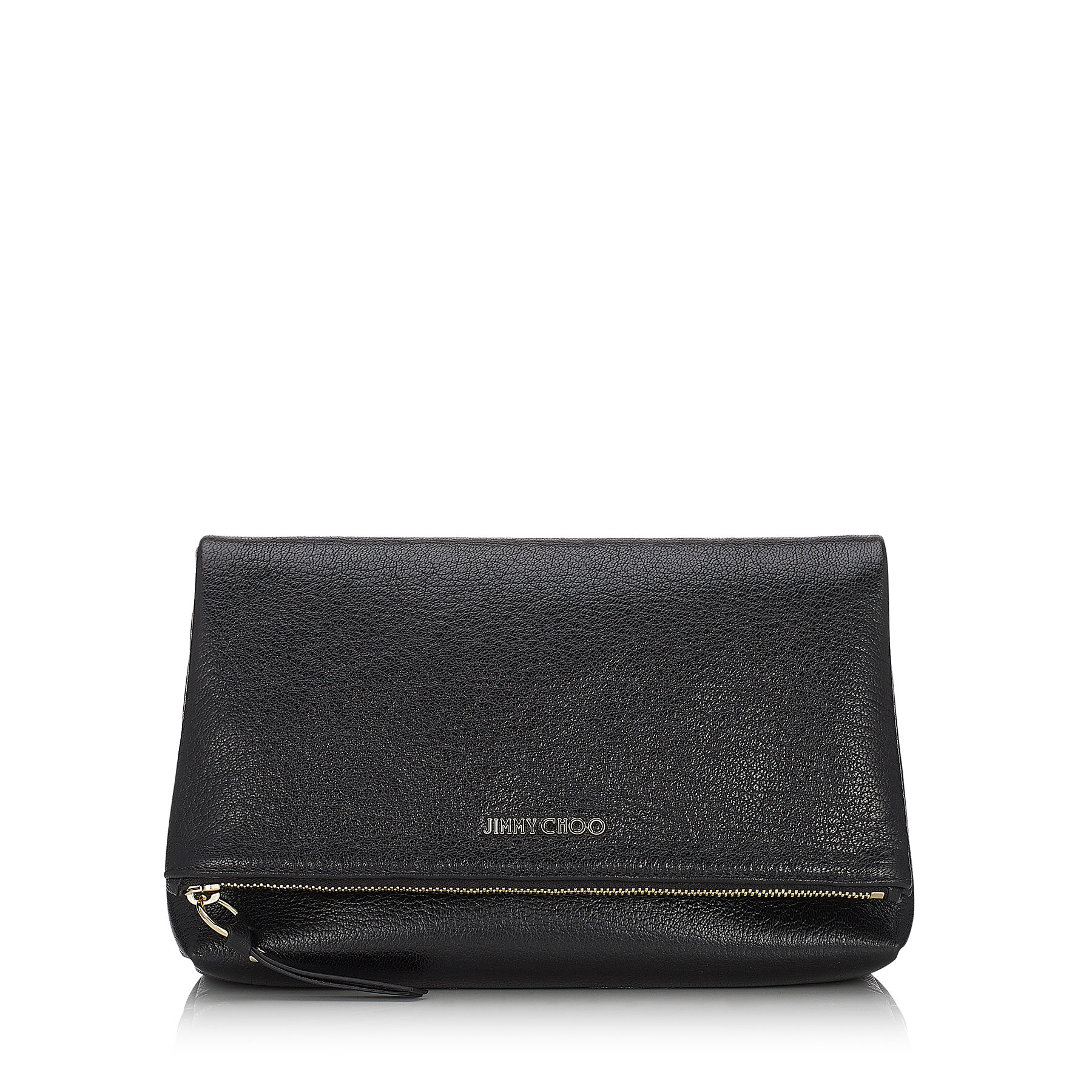 NYLA Black Soft Grained Goat Leather Accessory Pouch
