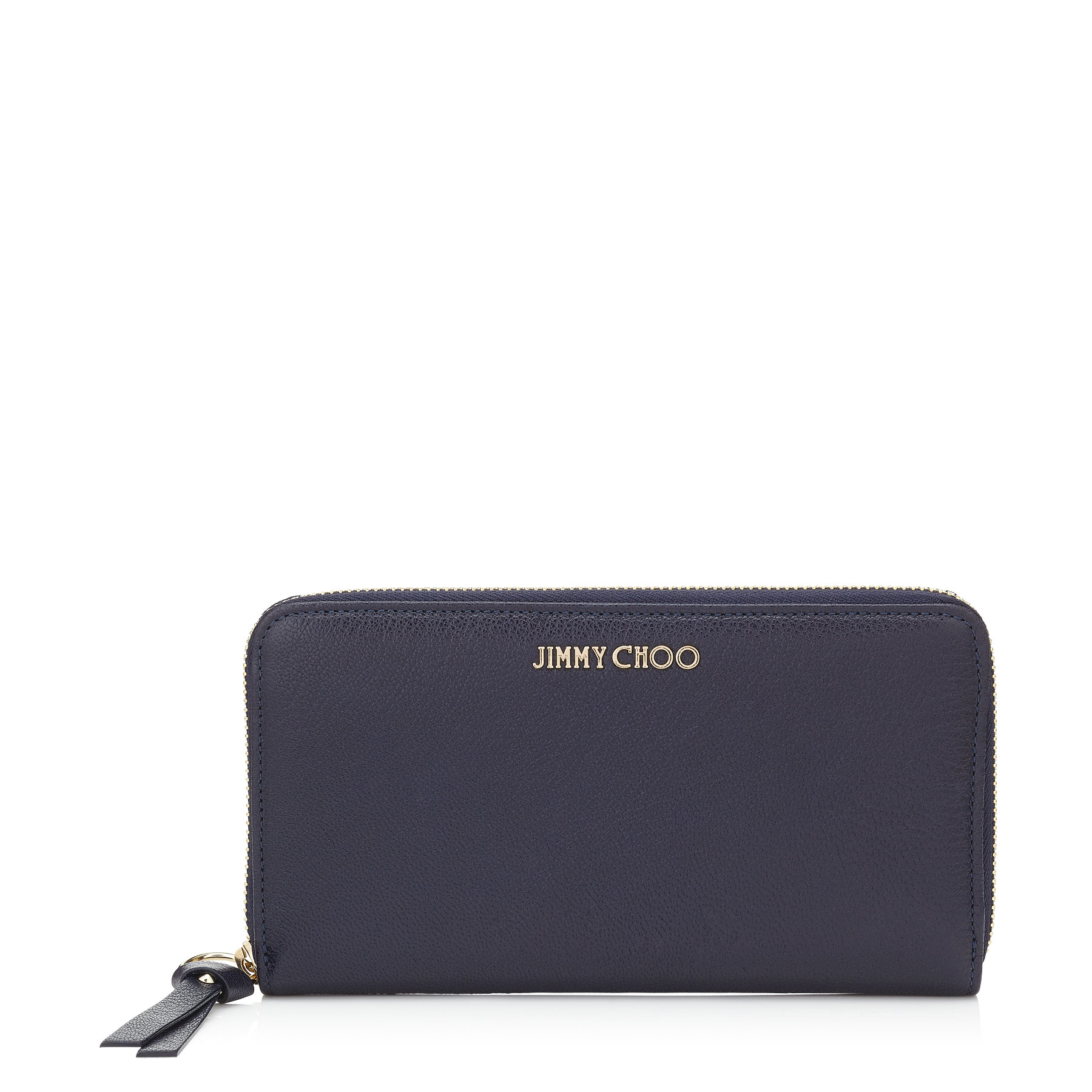 PIPPA Navy Soft Grained Goat Leather Zip Around Wallet