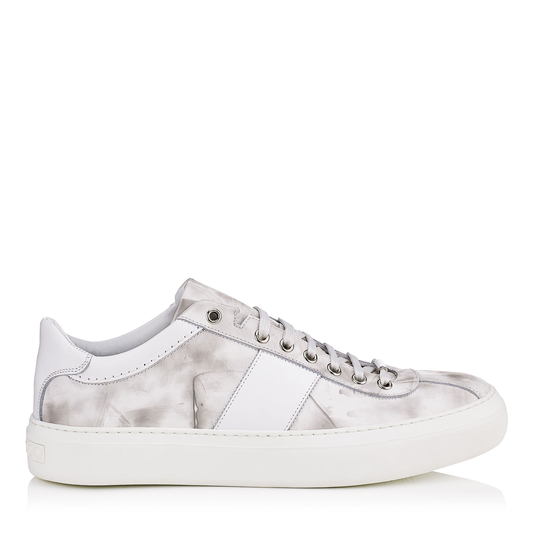 PORTMAN Ultra White Storm Calf Leather Low Top Trainers