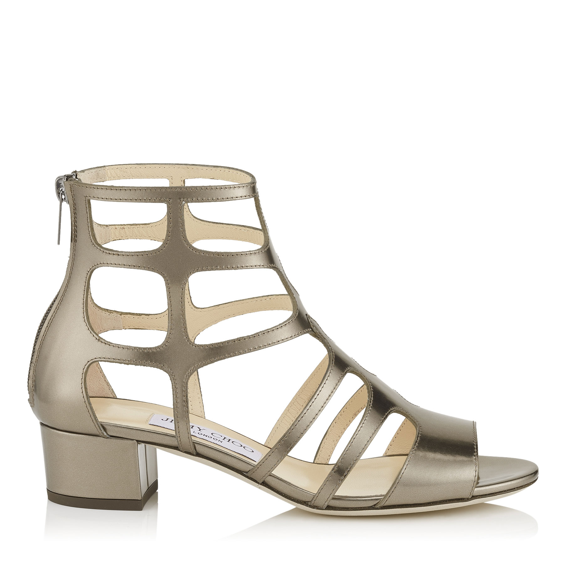 jimmy choo female ren 35 antique military mirror leather sandals