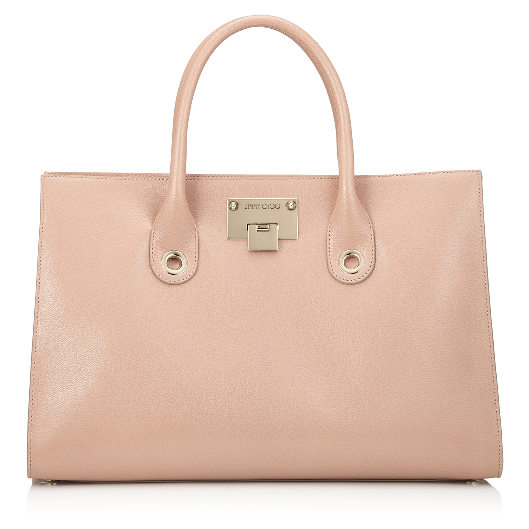 RILEY Ballet Pink Soft Grained Leather Tote Bag