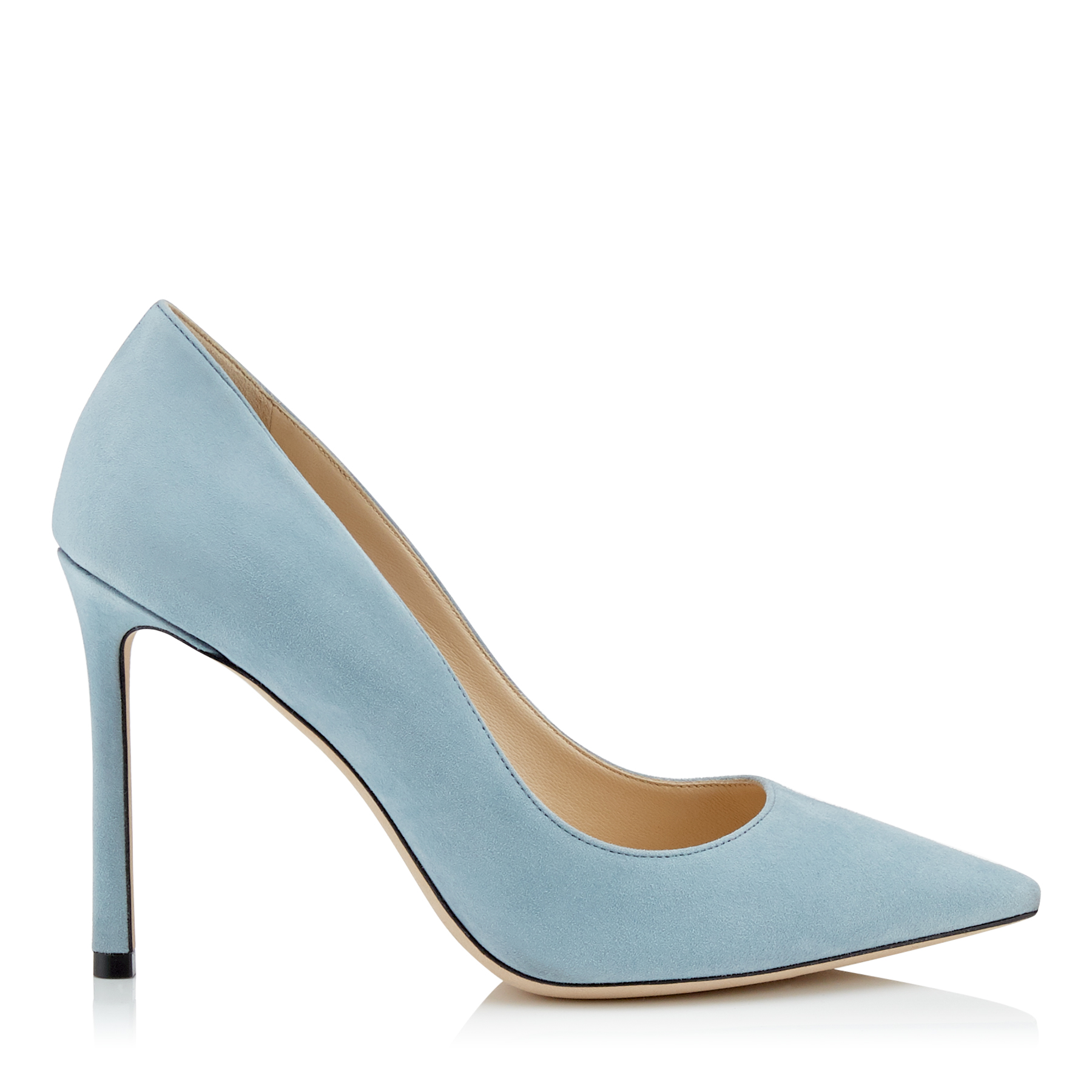 ROMY 100 Aqua Suede Pointy Toe Pumps