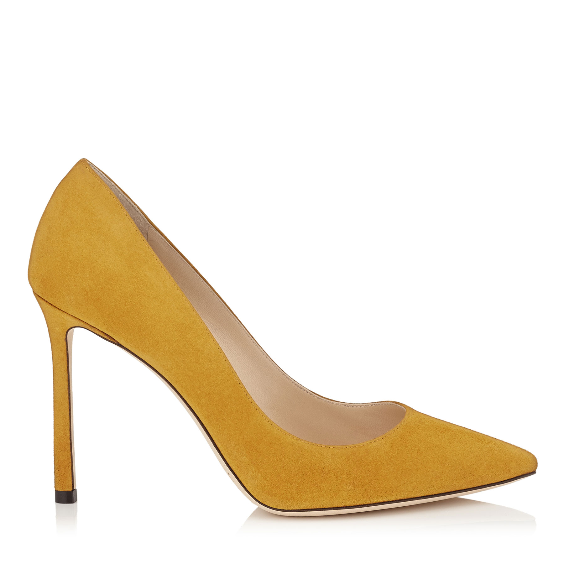 ROMY 100 Amber Suede Pointy Toe Pumps