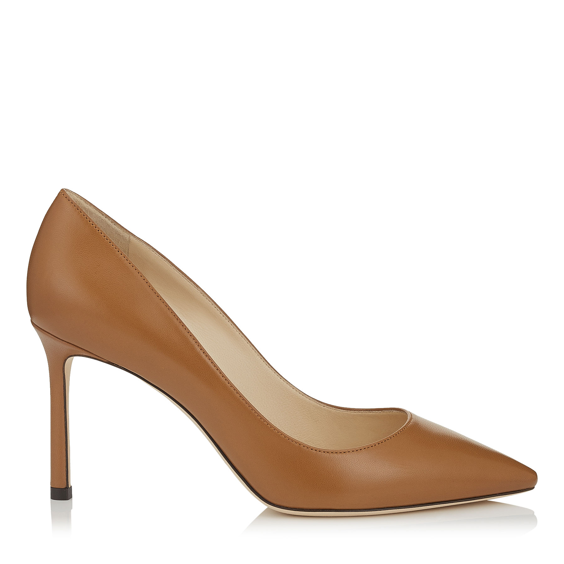 ROMY 85 Canyon Kid Leather Pointy Toe Pumps