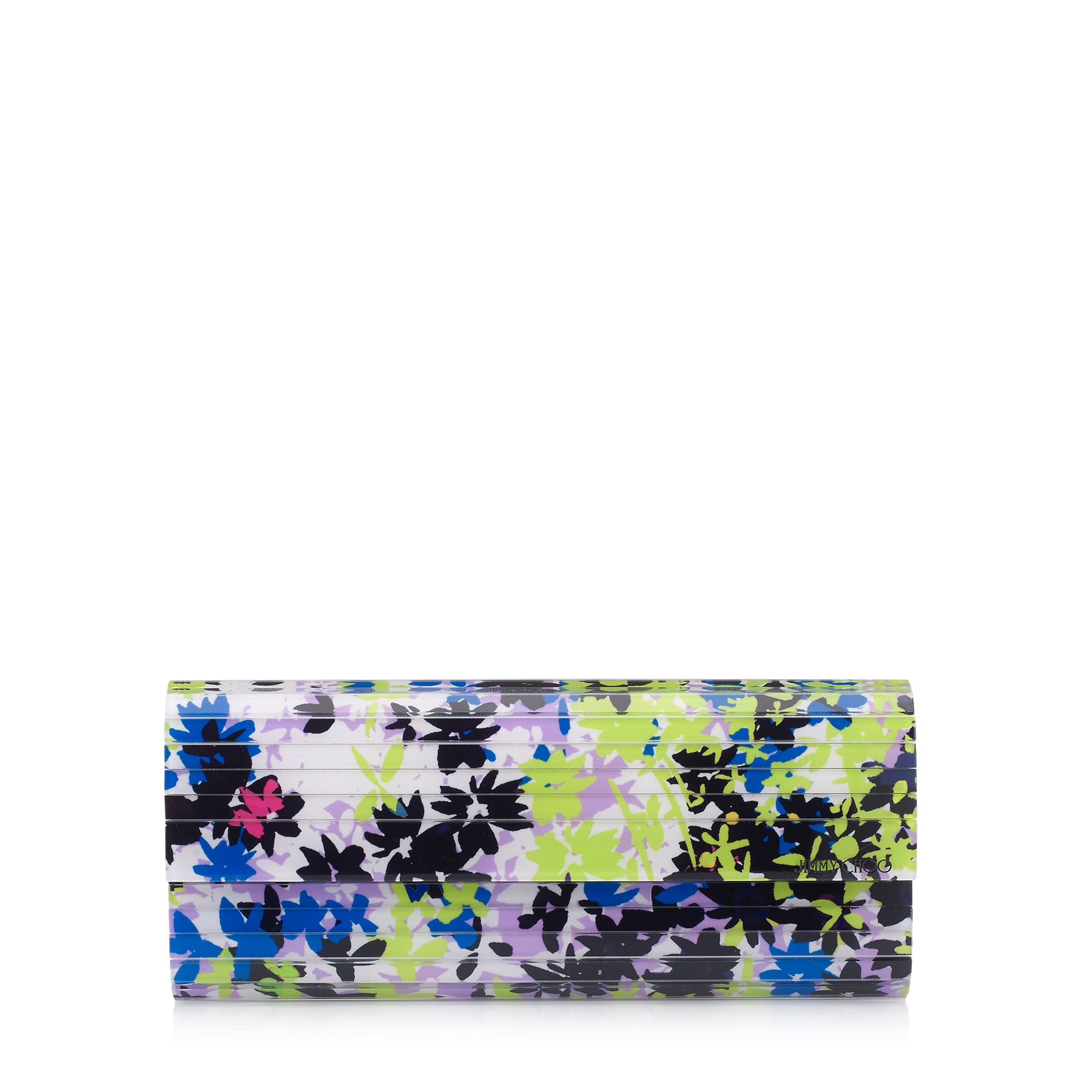 SWEETIE Apple and Lilac Camoflower Print Acrylic Clutch Bag