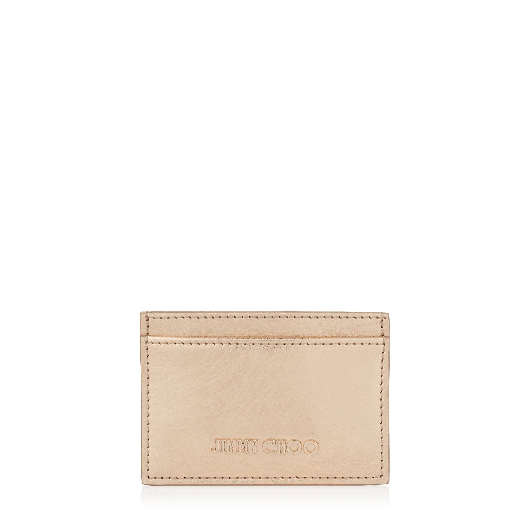 UMIKA Gold Etched Metallic Spazzolato Leather Card Holder