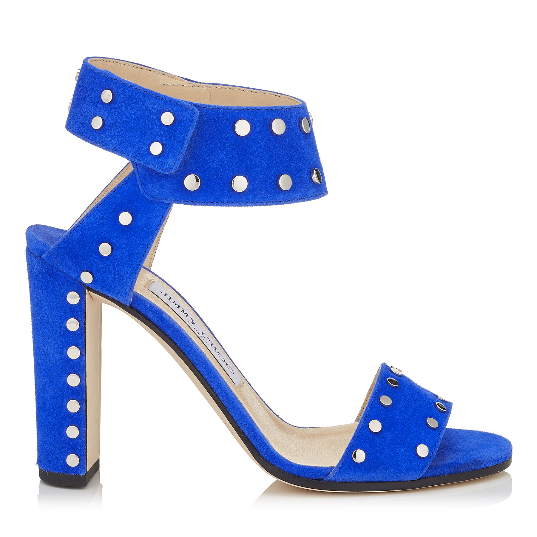 VETO 100 Cobalt Suede Sandals with Silver Studs