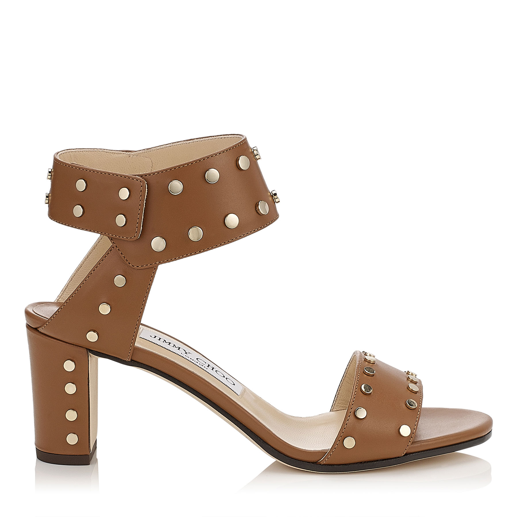 VETO 65 Canyon Shiny Leather Sandals with Gold Studs