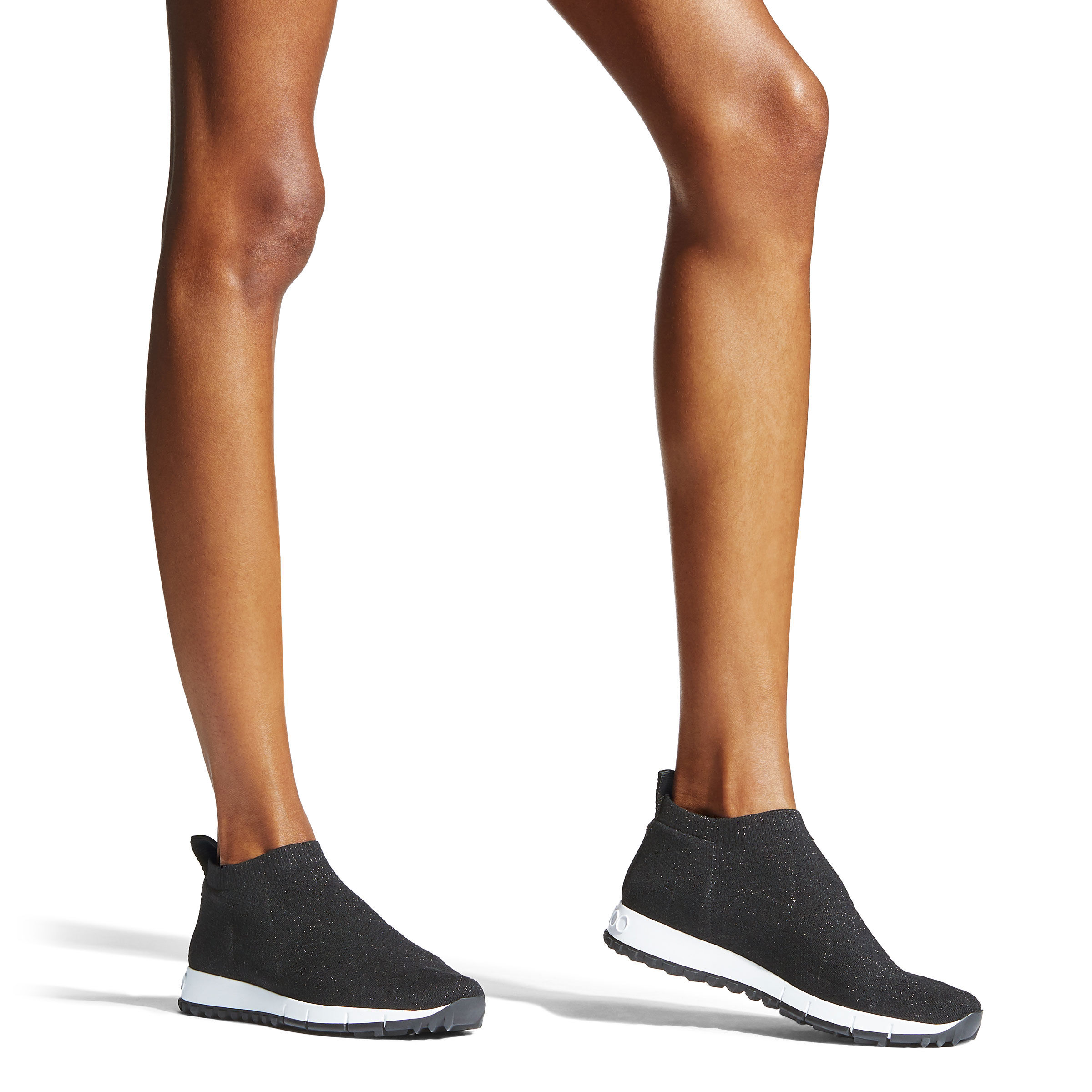 Black Knit and Lurex Trainers| NORWAY