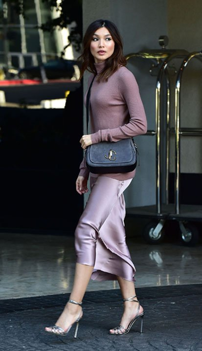 Gemma Chan carrying VARENNE XB