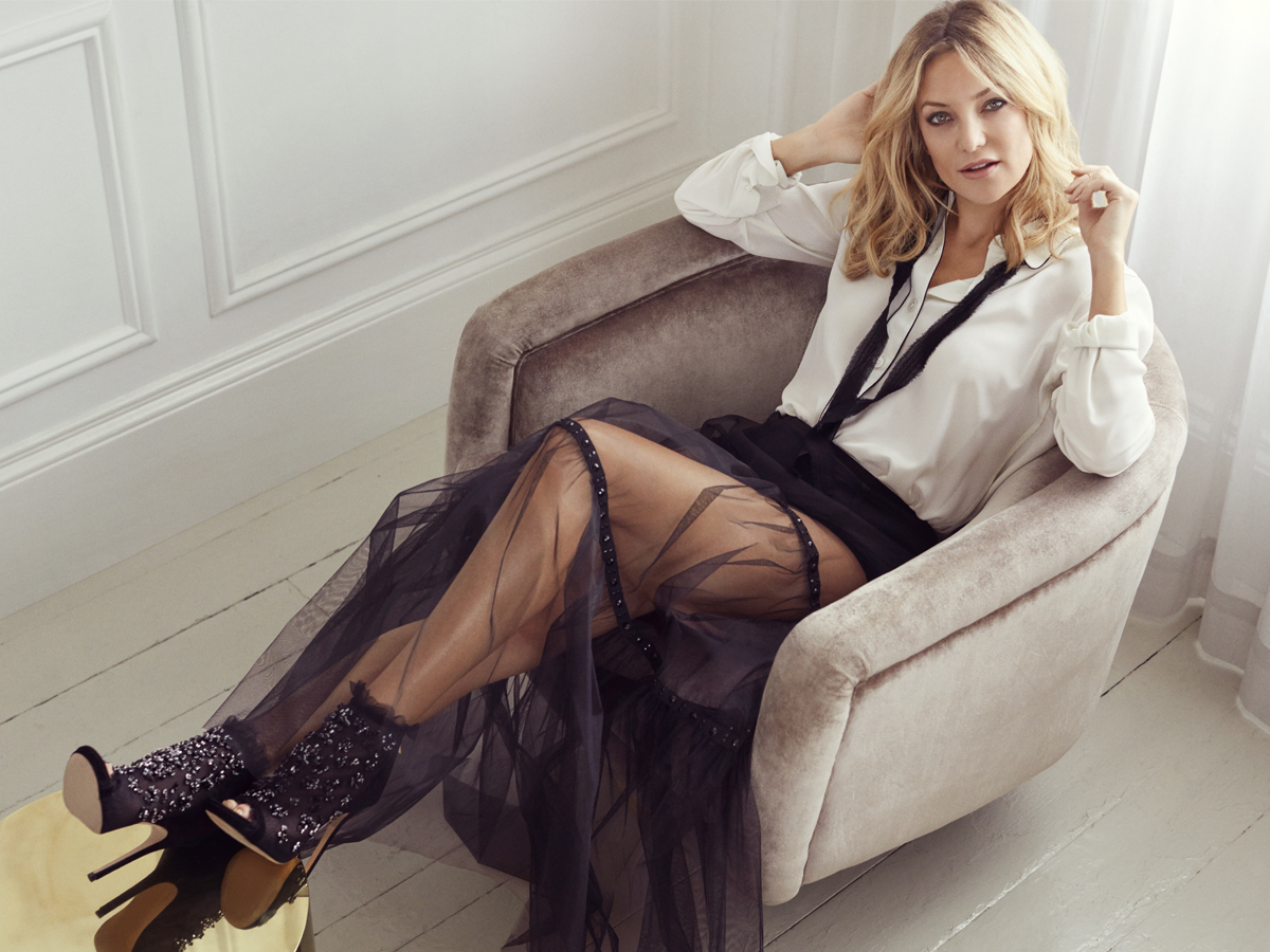 Kate Hudson Styles Jimmy Choo Autumn Winter Collection