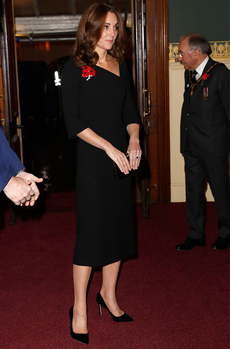 The Duchess of Cambridge wearing ROMY and carrying CELESTE