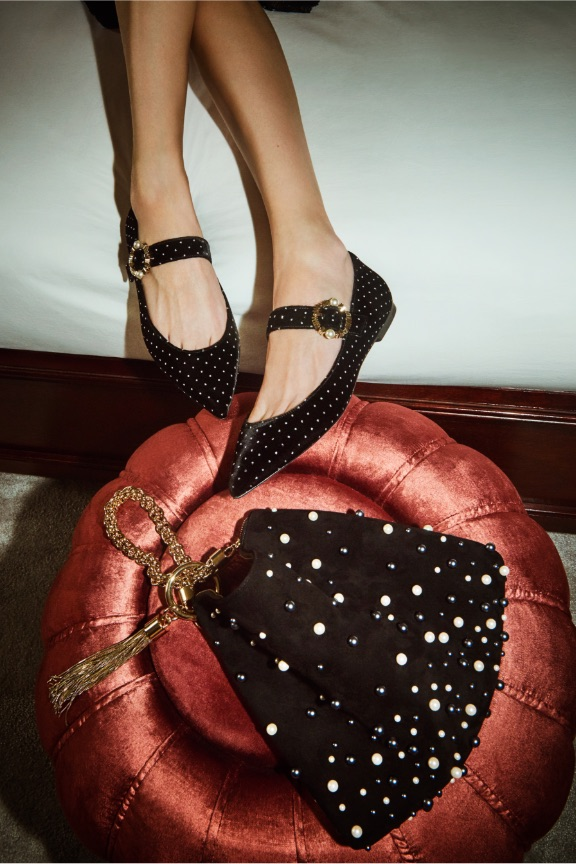 Shop velvet shoes and bags for women