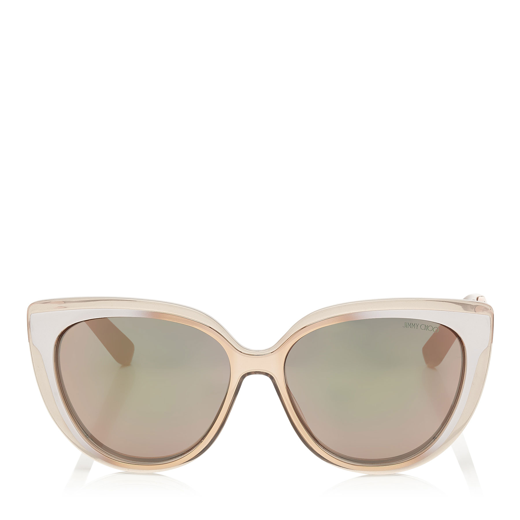 954b932df88b Dove Grey and Gold Copper Cat-Eye Sunglasses