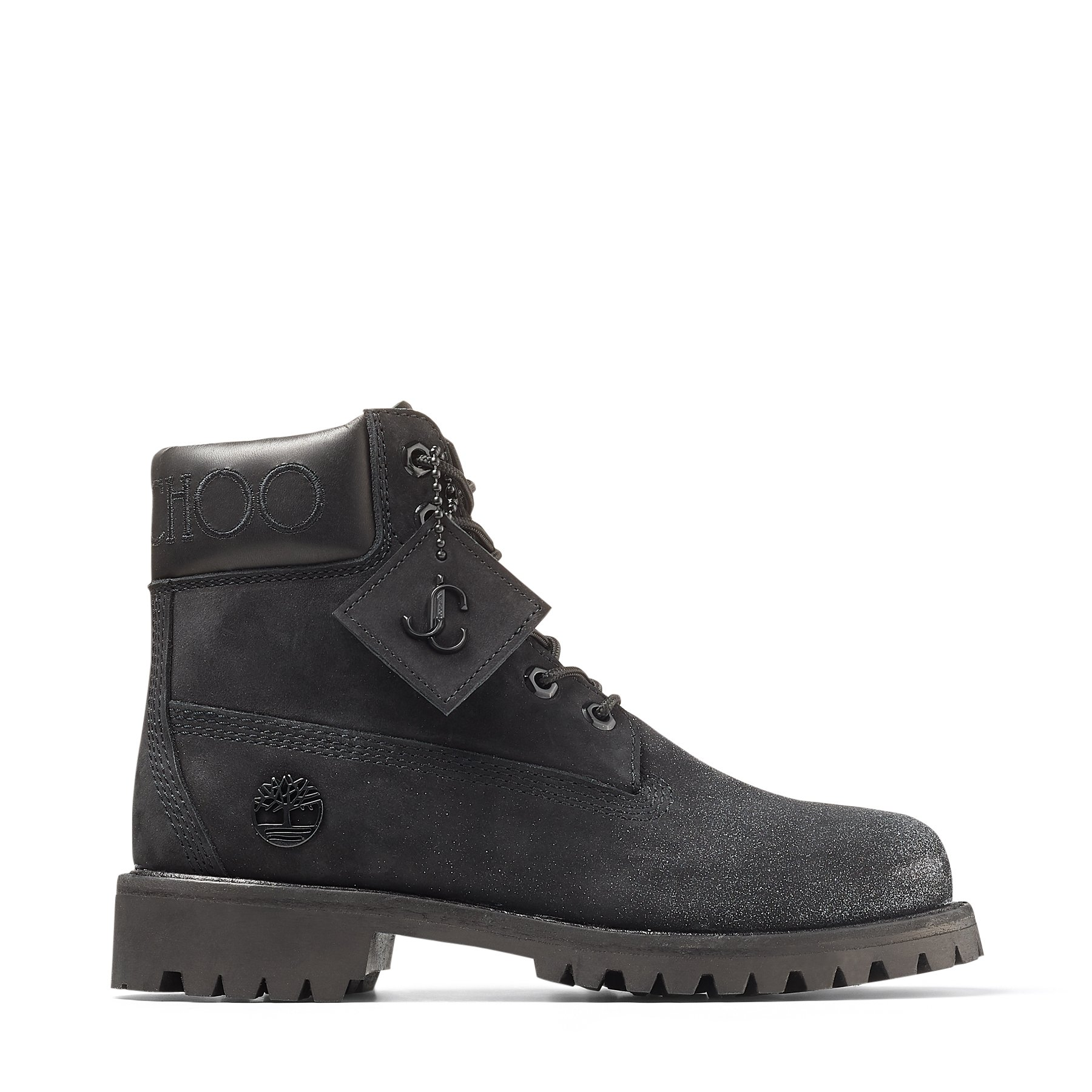 Black Nubuck Leather Boots with