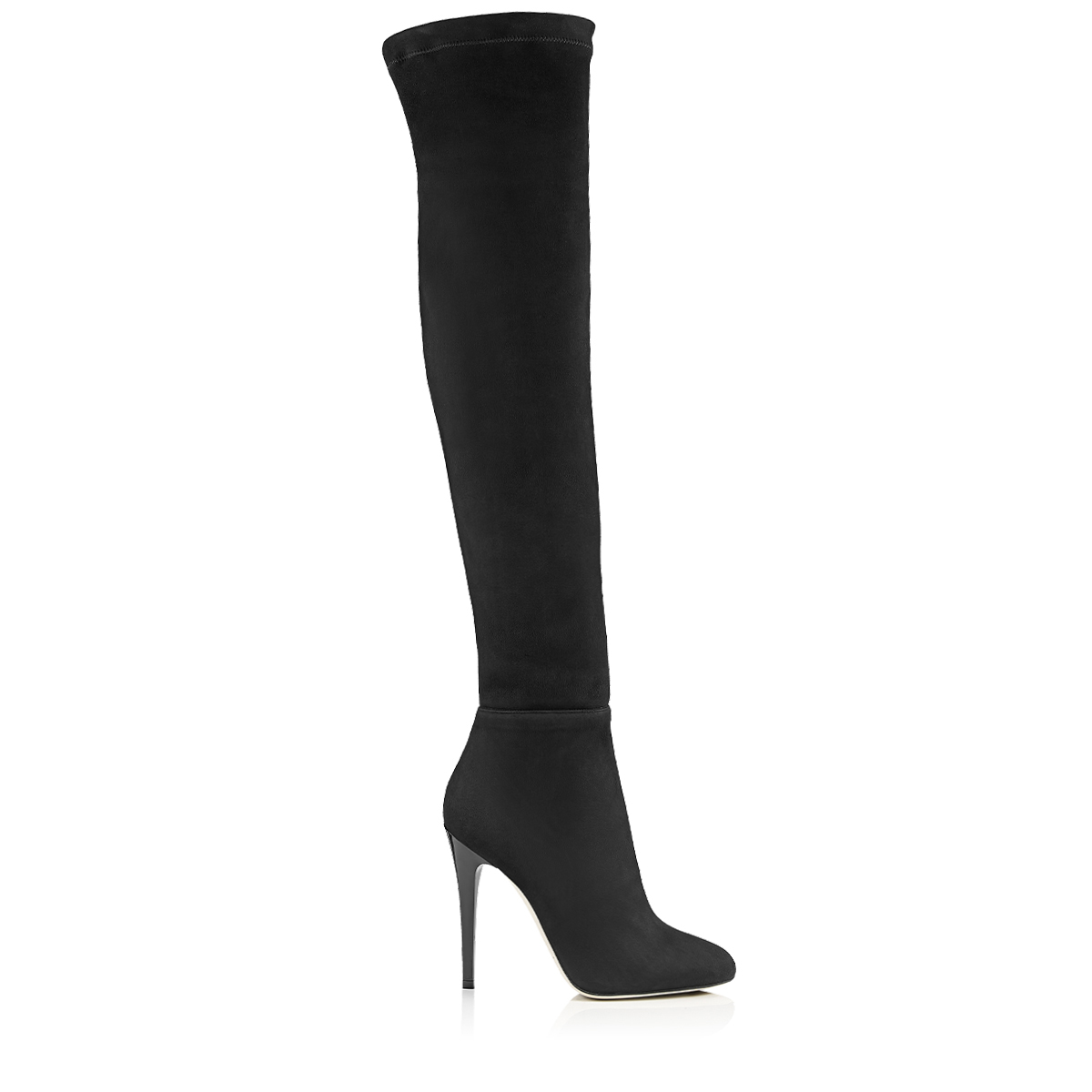 TURNER Black Suede and Stretch Suede Over the Knee Boots by Jimmy Choo