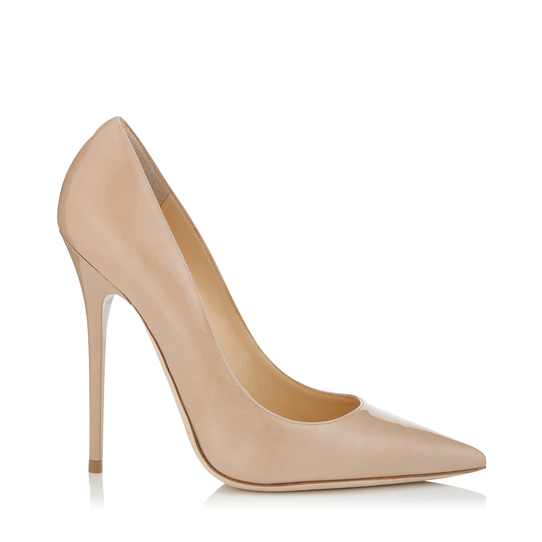 ANOUK Nude Patent Pointy Toe Stiletto Pumps by Jimmy Choo