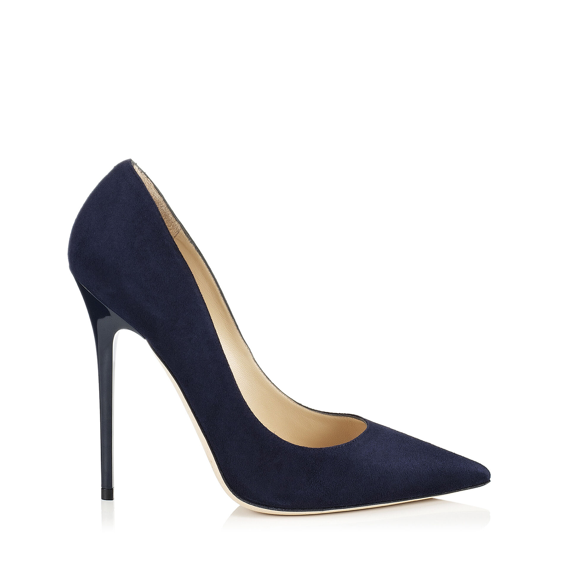 ANOUK Navy Suede Pointy Toe Pumps by Jimmy Choo