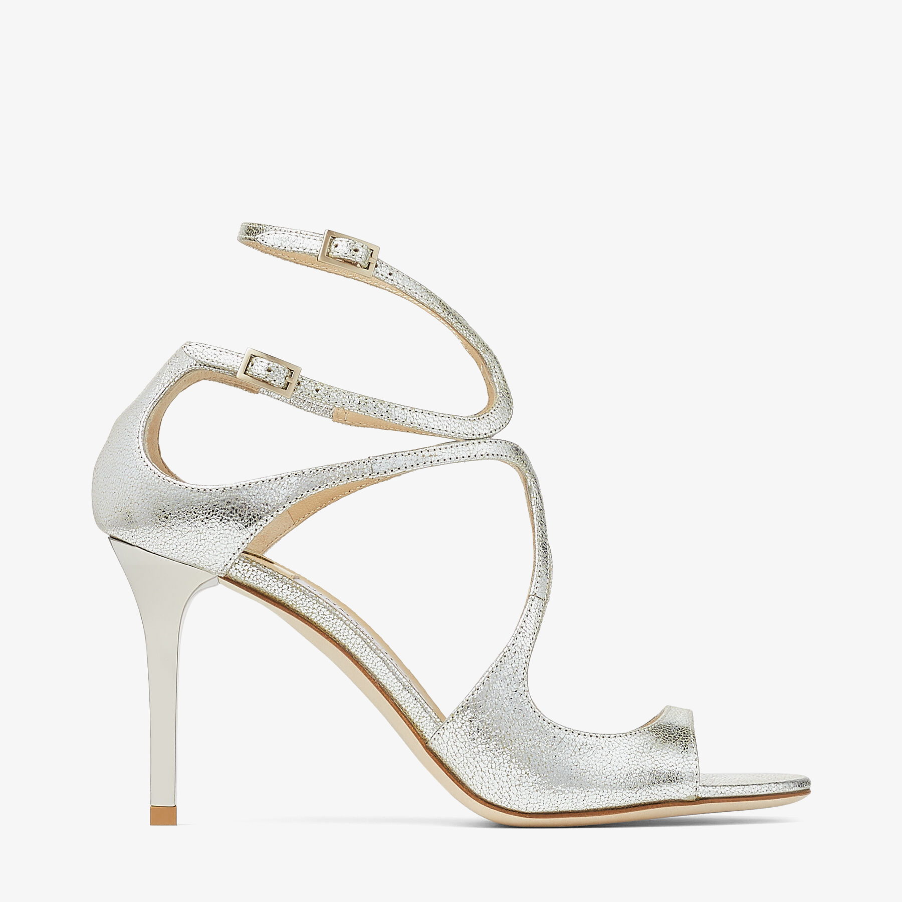 IVETTE Champagne Glitter Strappy Sandals by Jimmy Choo