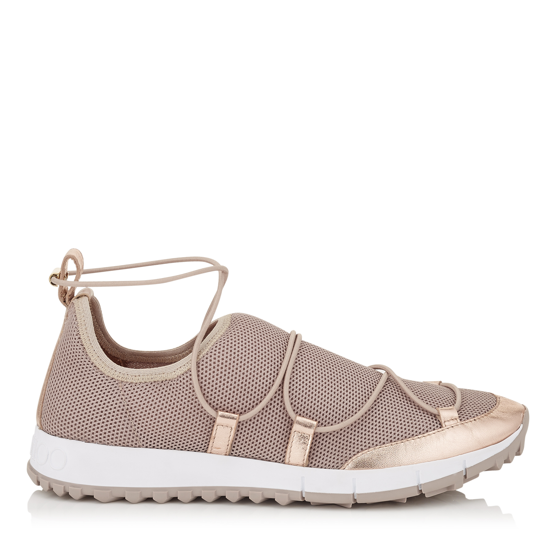 ANDREA Tea Rose Fabric Mesh Trainers by Jimmy Choo