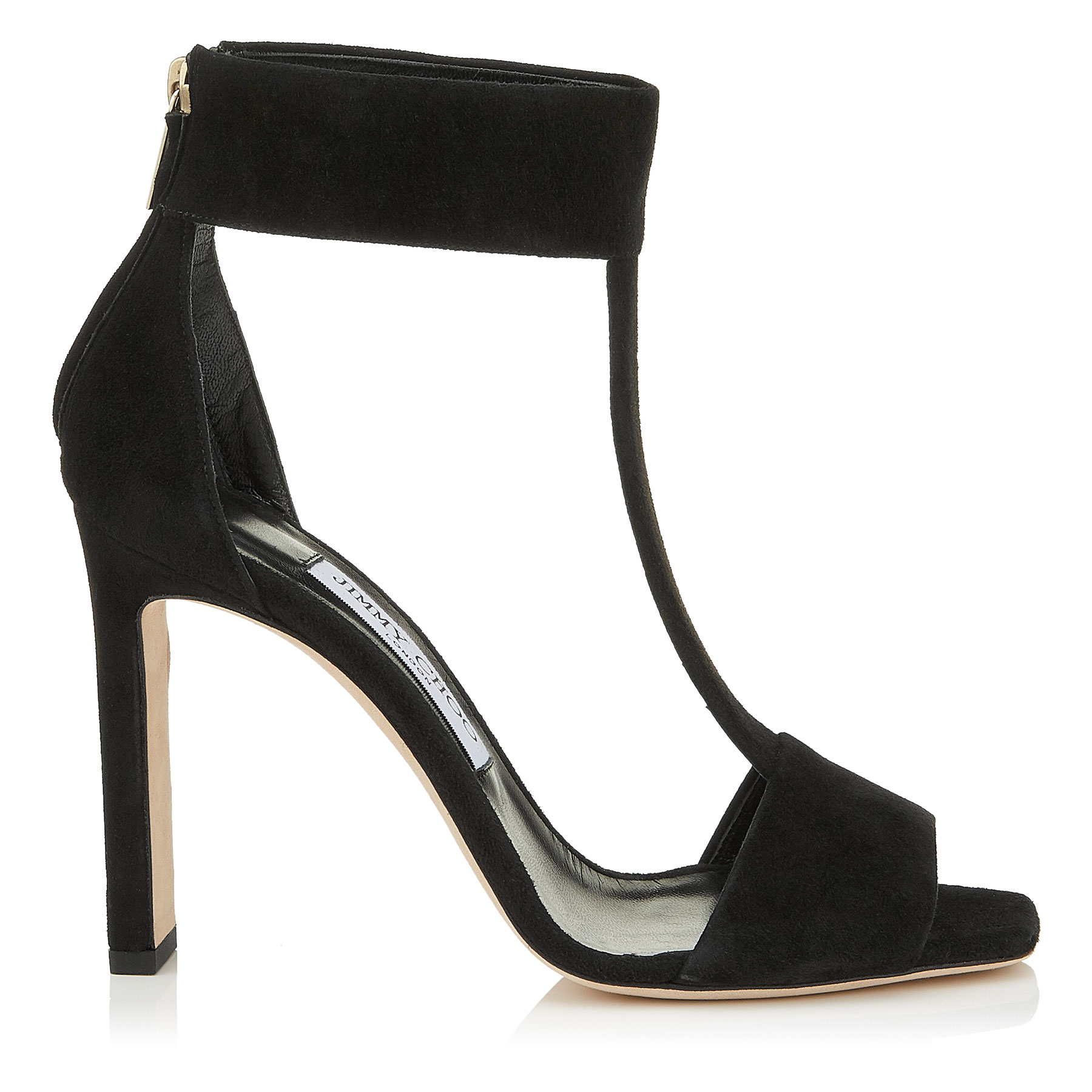 BETHEL 100 Black Suede Sandals by Jimmy Choo