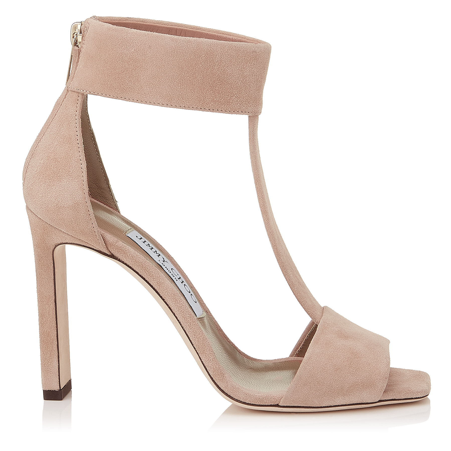 BETHEL 100 Ballet Pink Suede Sandals by Jimmy Choo