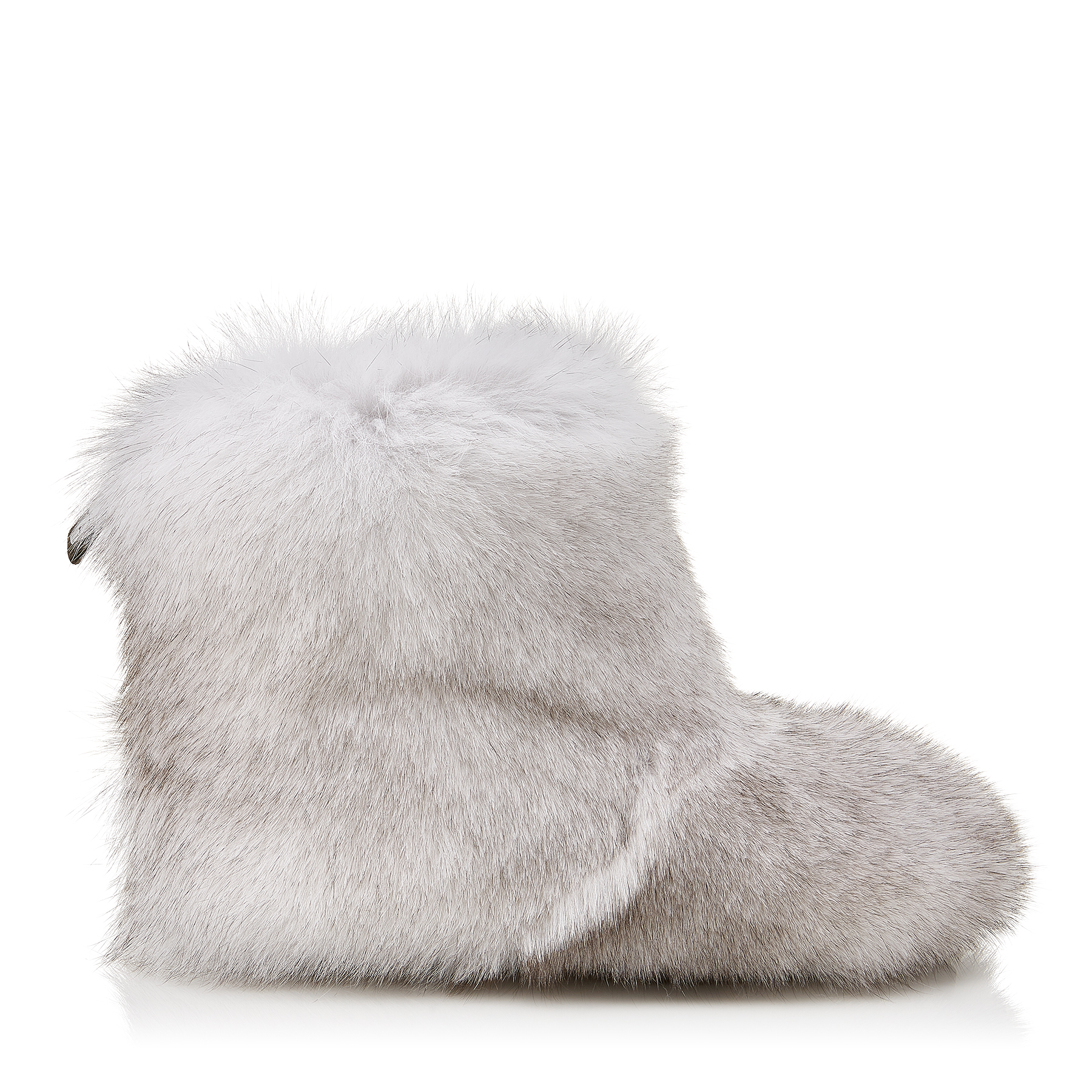 DALTON FLAT White Fox Fur Boots with Rabbit Fur Lining by Jimmy Choo